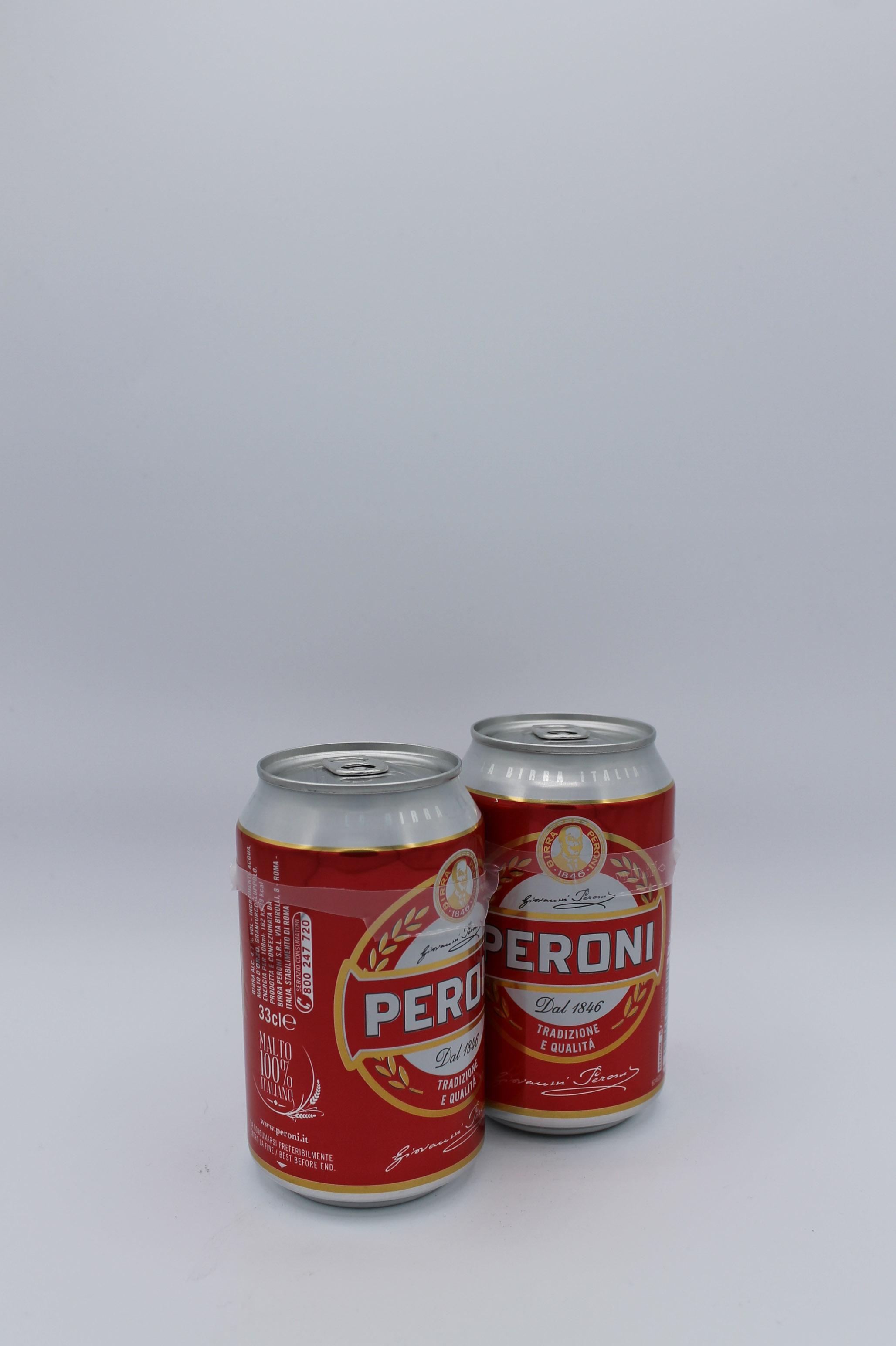 Peroni birra lattina bipack 2x330ml.
