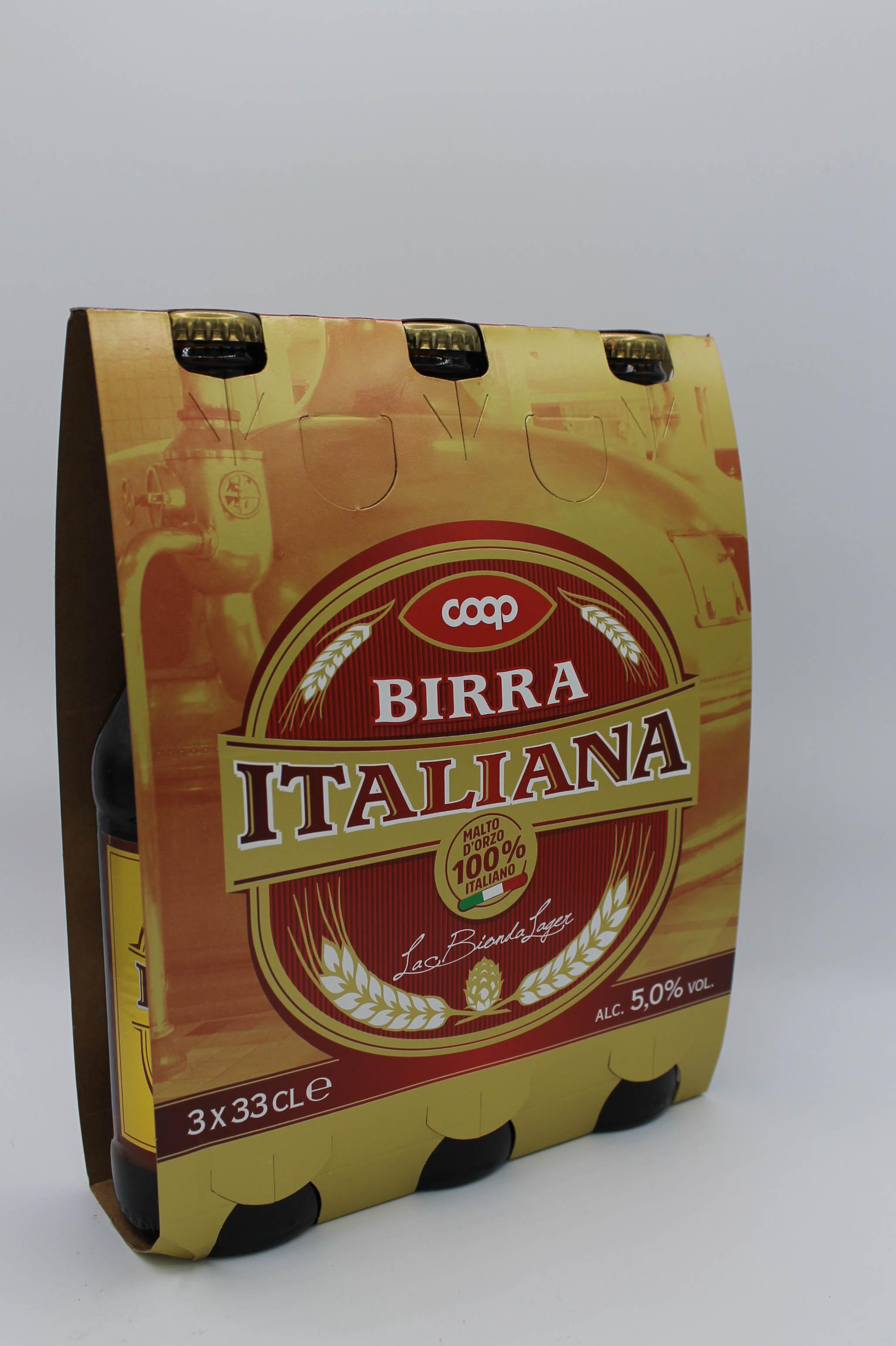 Coop birra italiana 3x330ml vari gusti.