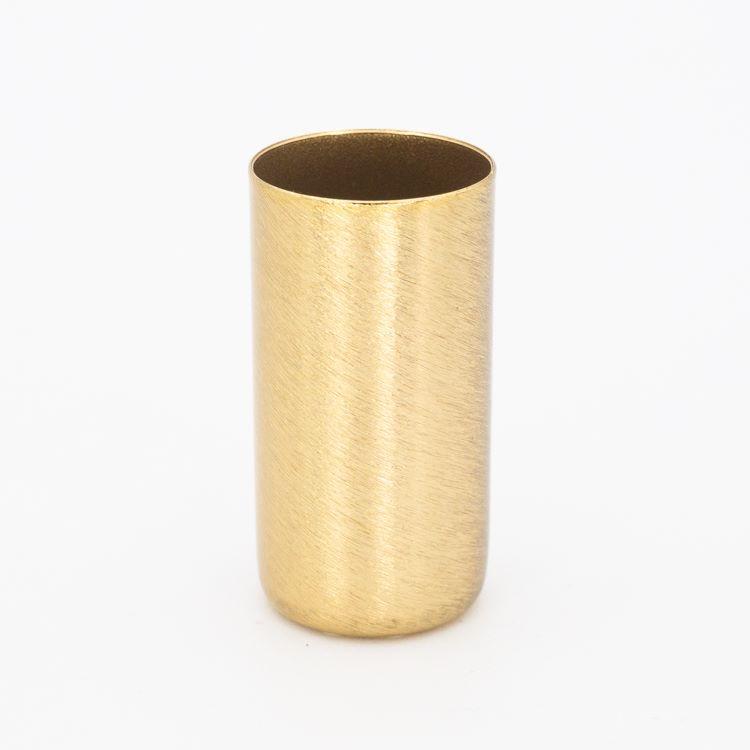 Bicchierino metallico G9 Ø21 x h40 finitura oro spazzolato