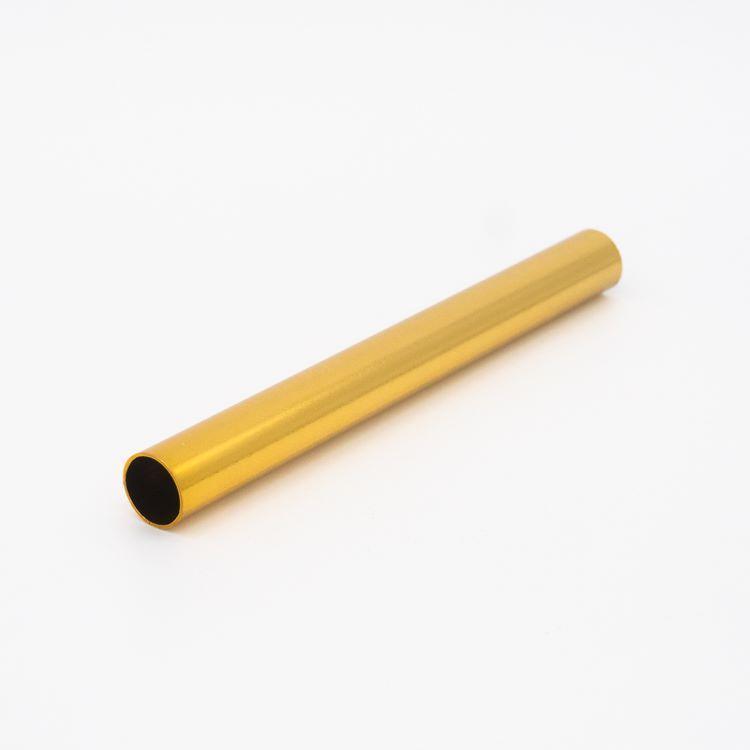 Copritubo h120 mm oro caldo lucido galvanico Ø13 spessore 1 mm