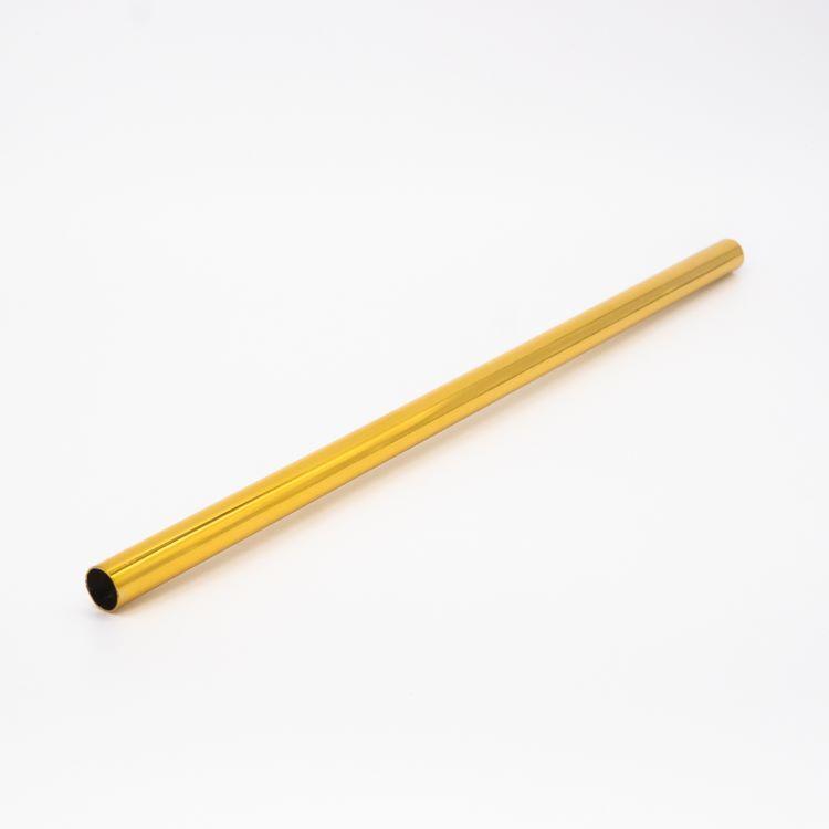 Copritubo h300 mm oro caldo lucido galvanico Ø13 spessore 1 mm