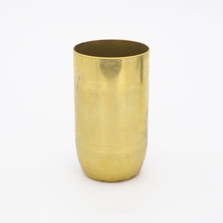Bicchierino metallico E14 ottone grezzo Ø30 mm foro 10 mm