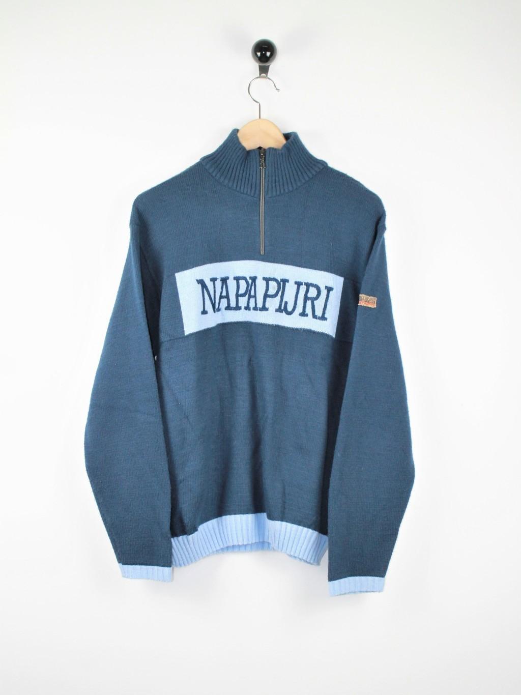 Napapijri - Maglia collo alto mezza zip