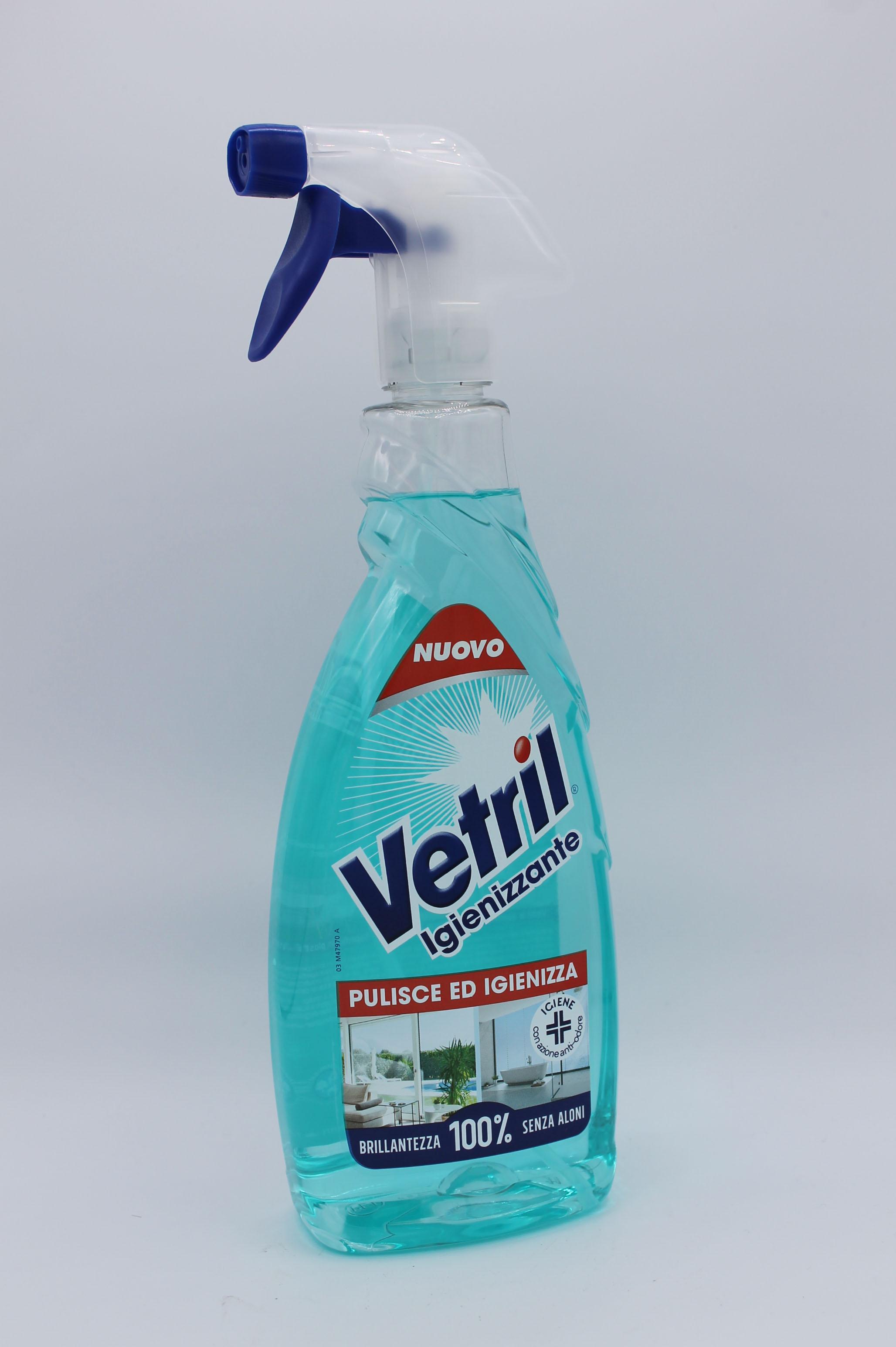 Vetril detergente multisuperficie spray 650ml vari tipi.