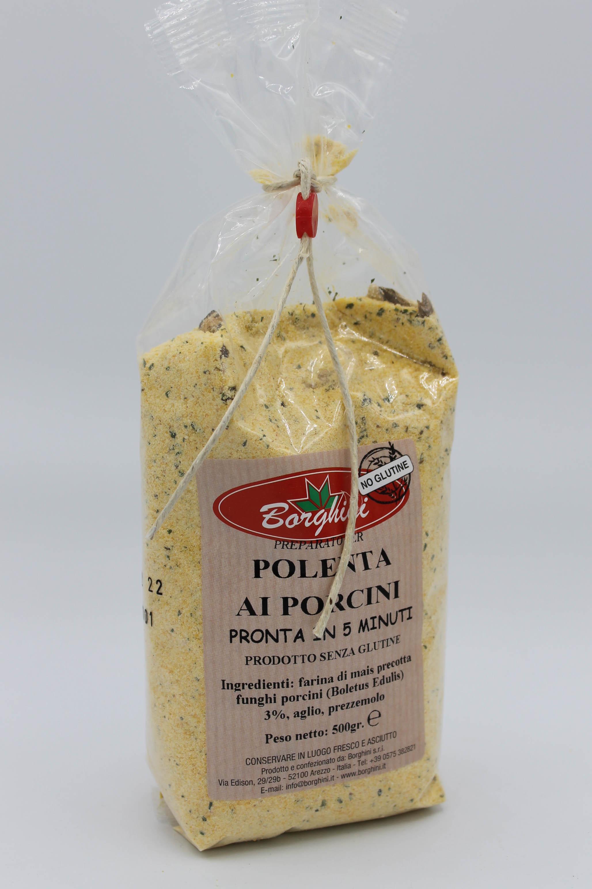 Borghini preparato polenta 500gr vari gusti.
