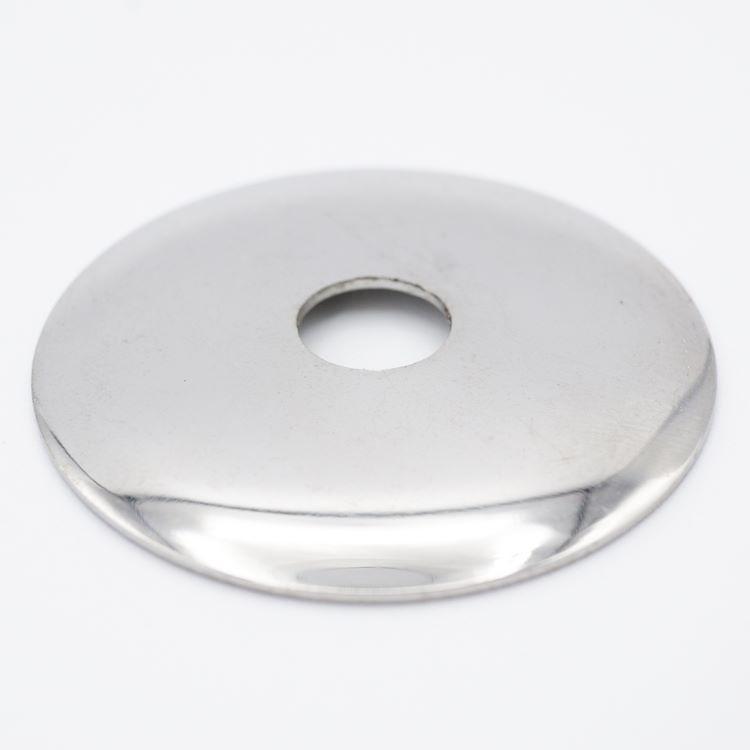 Lente Ø45 mm foro centrale 10 mm finitura nikel lucido