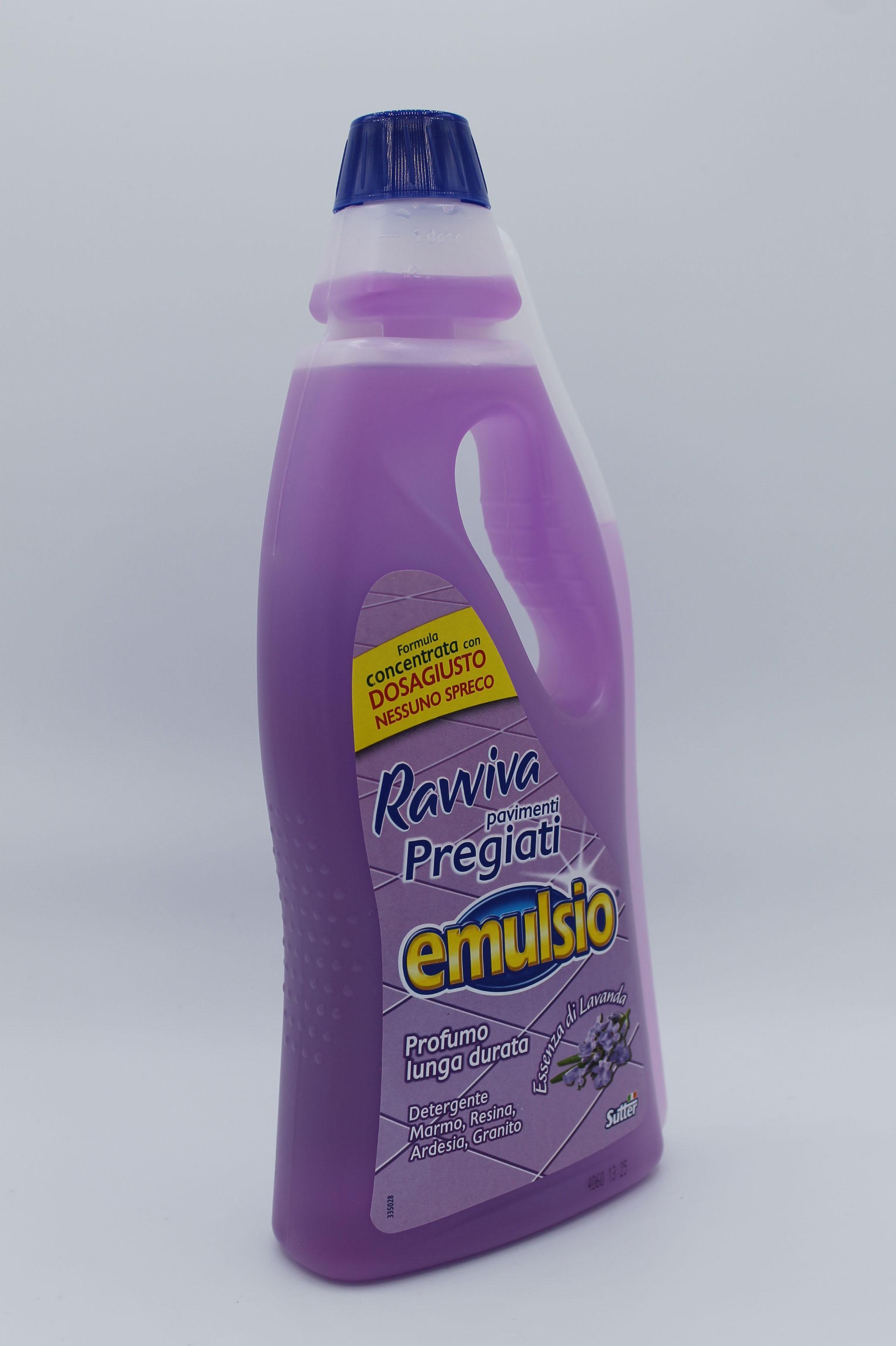 Emulsio ravviva pavimenti 750ml varie profumazioni.