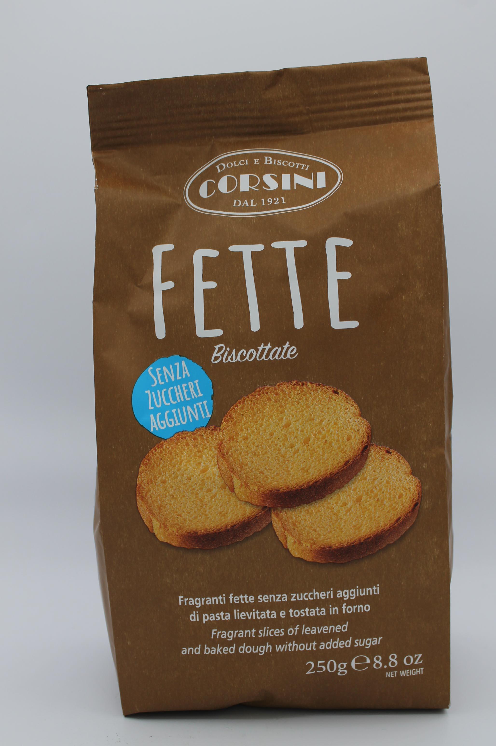 Corsini fette biscottate 250gr assortite.