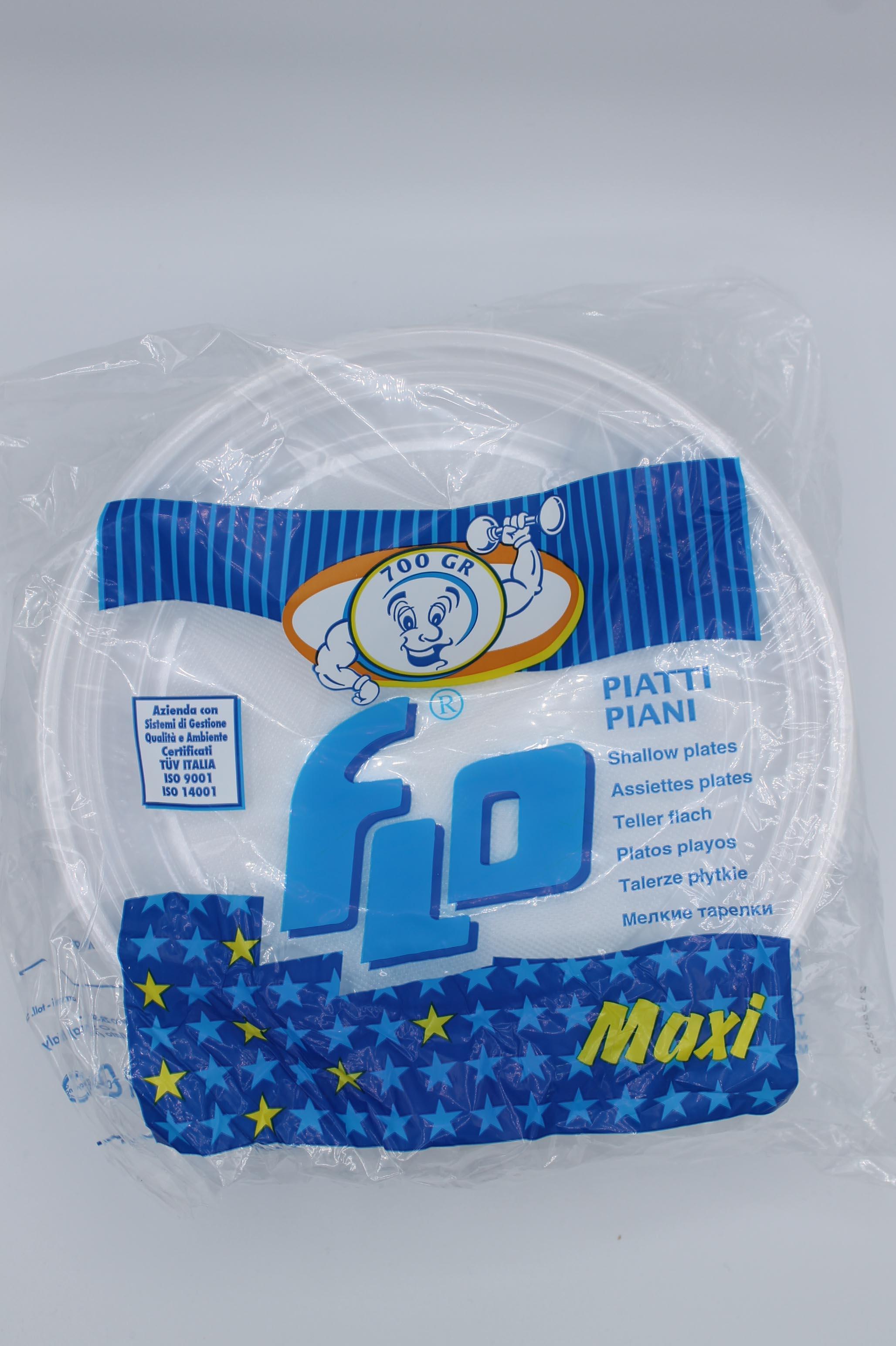 Bibo piatti di plastica 700gr vari formati.