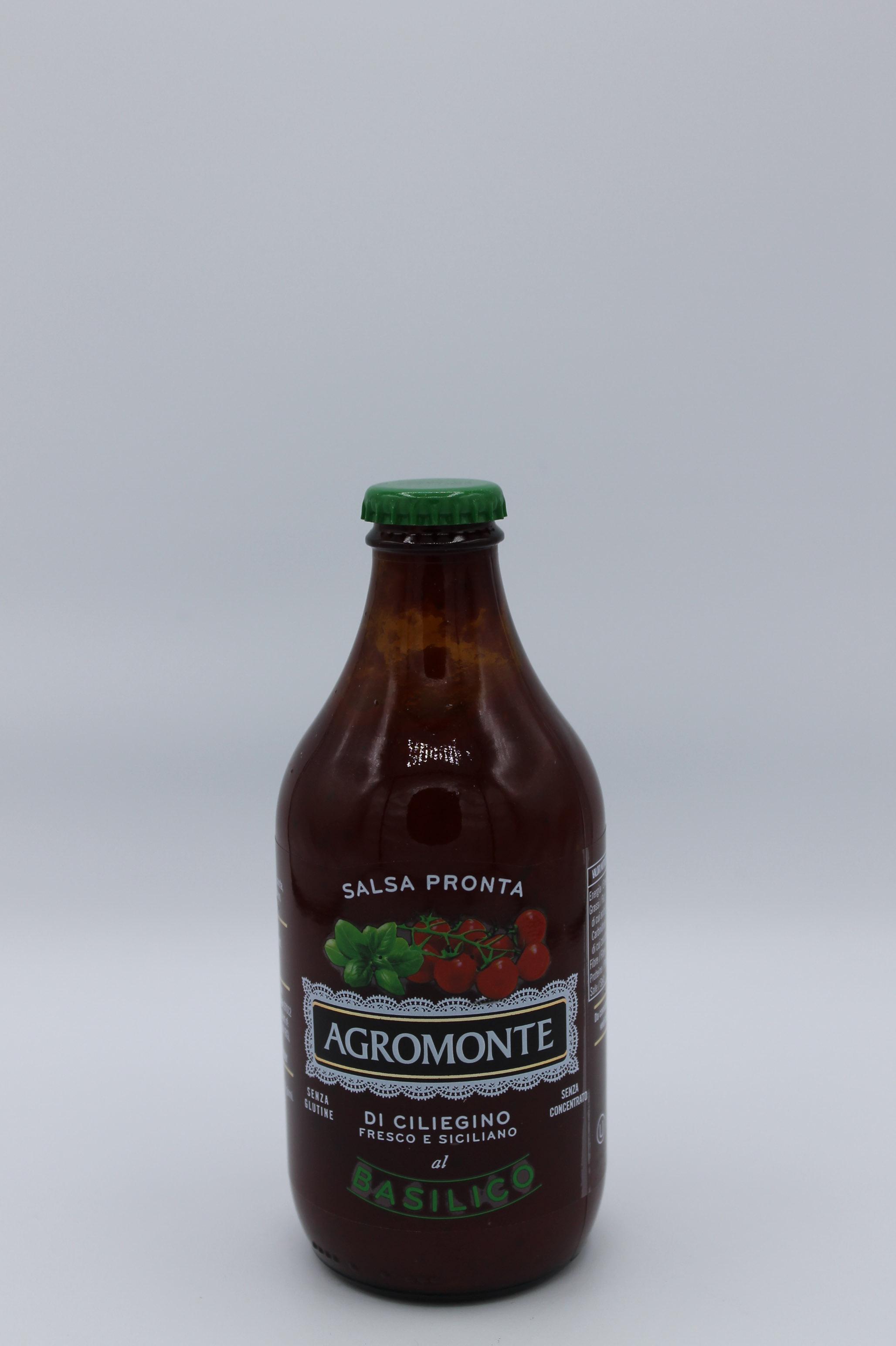 Salsa di pomodoro ciliegino agromonte al basilico 330 gr.