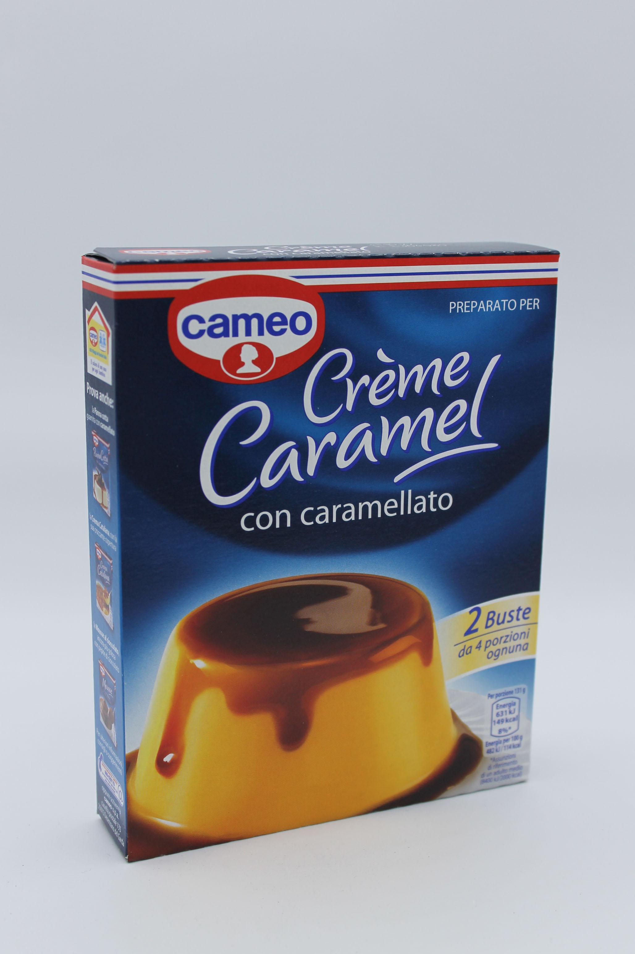 Creme caramel cameo