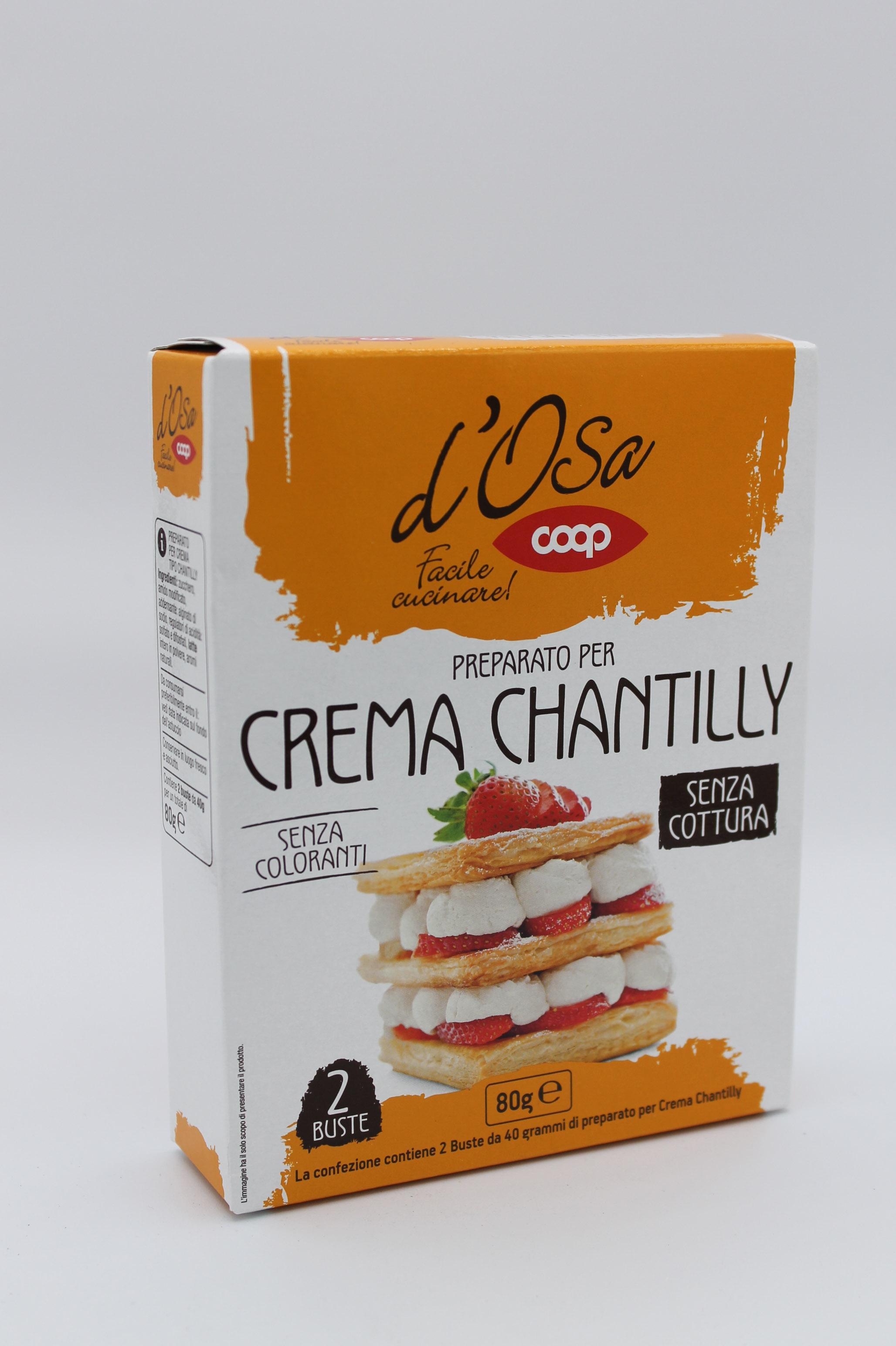 Preparato per crema chantilly coop