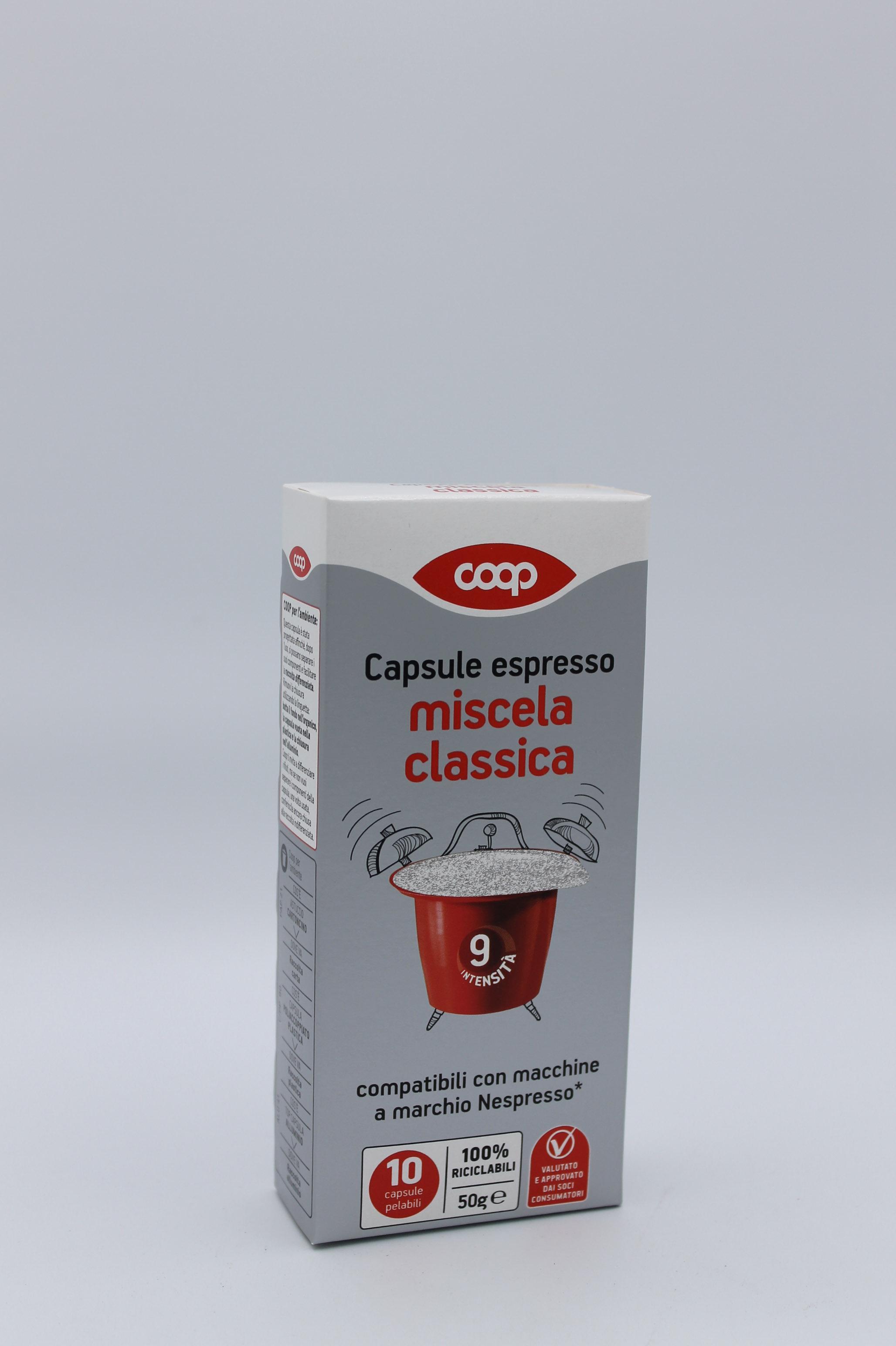 capsule coop espresso classico 10x5 gr.