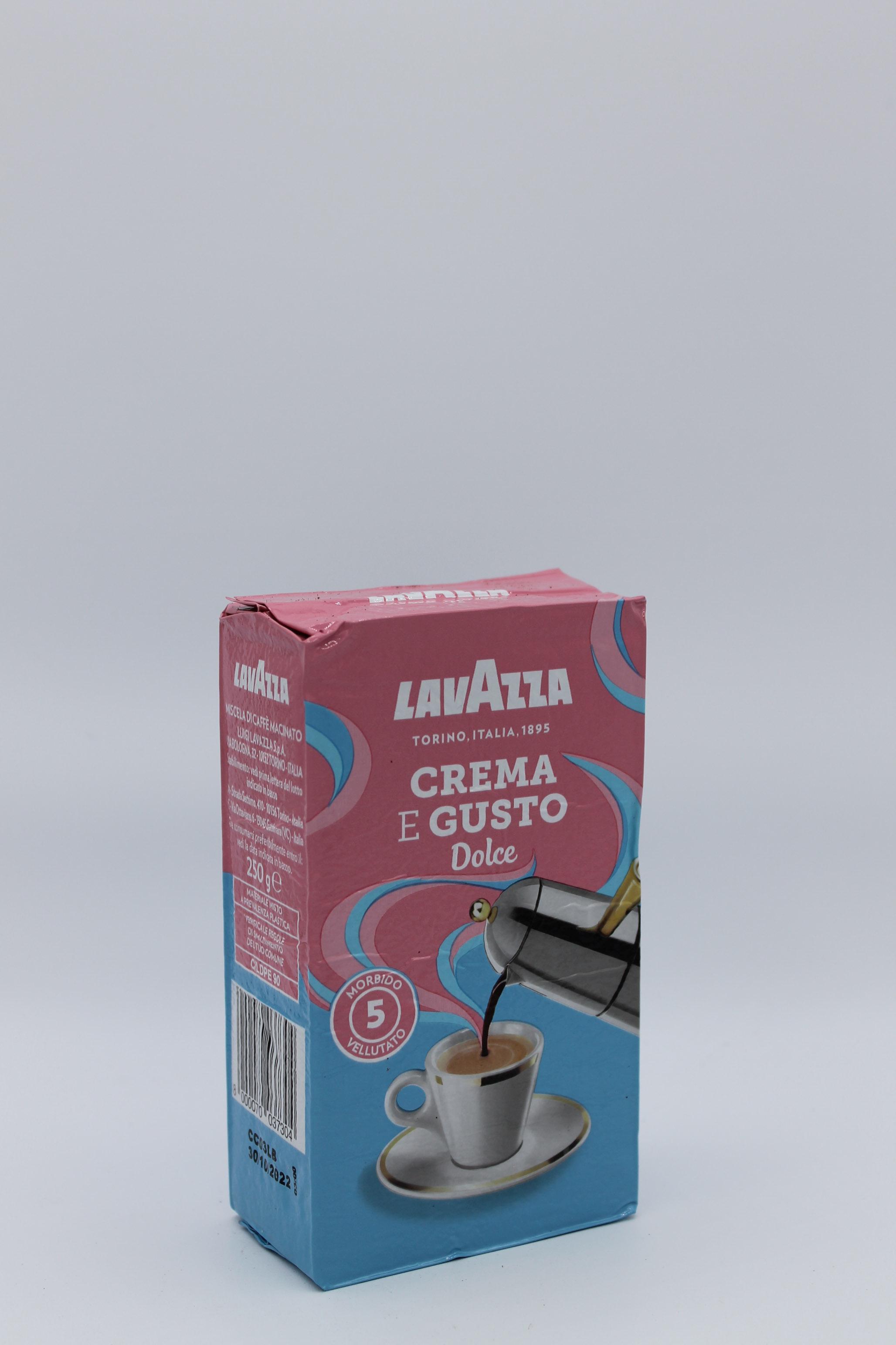 Lavazza crema e gusto dolce 250 gr.