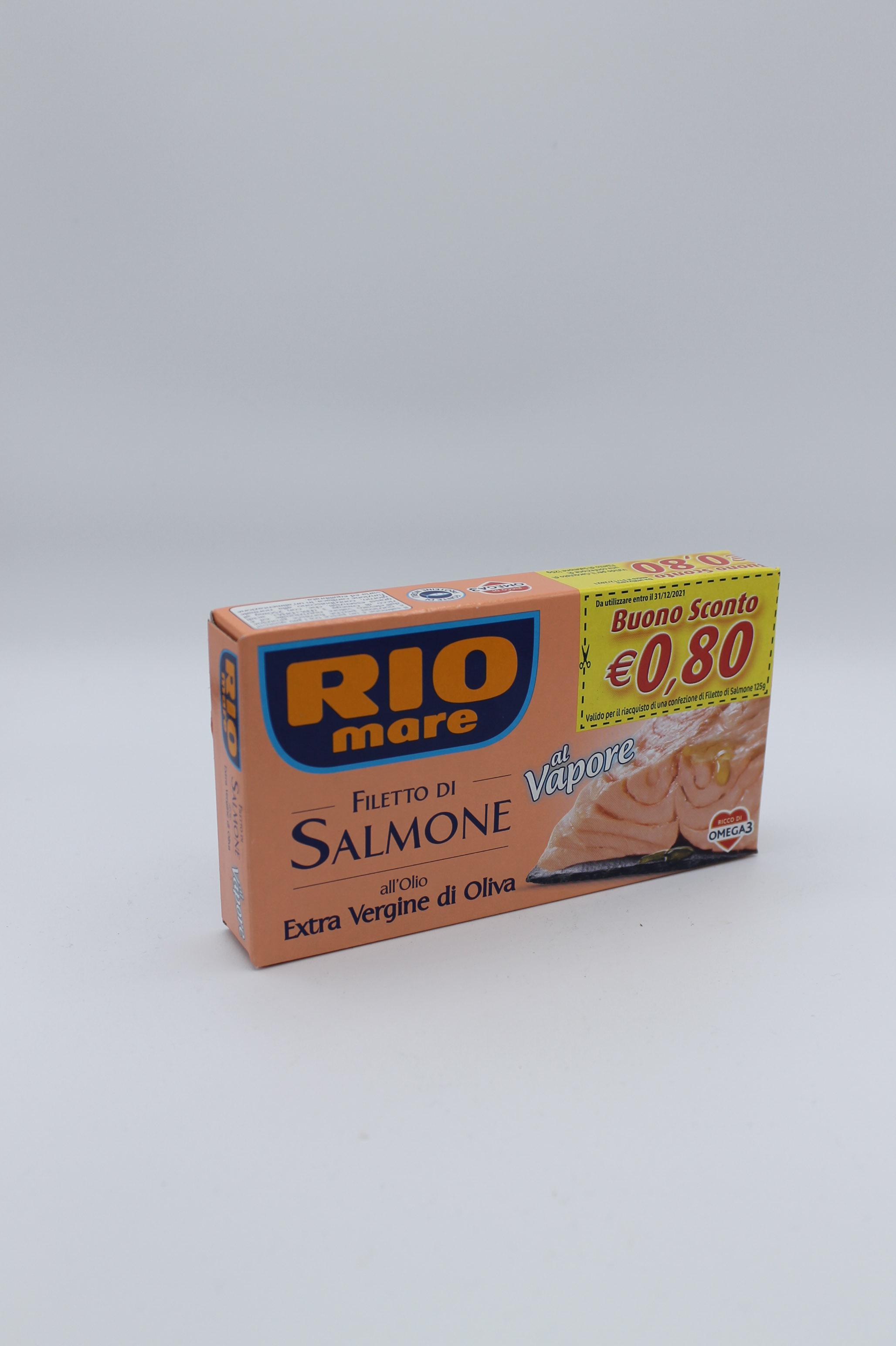 Rio mare filetti di salmone olio oliva 125 gr.