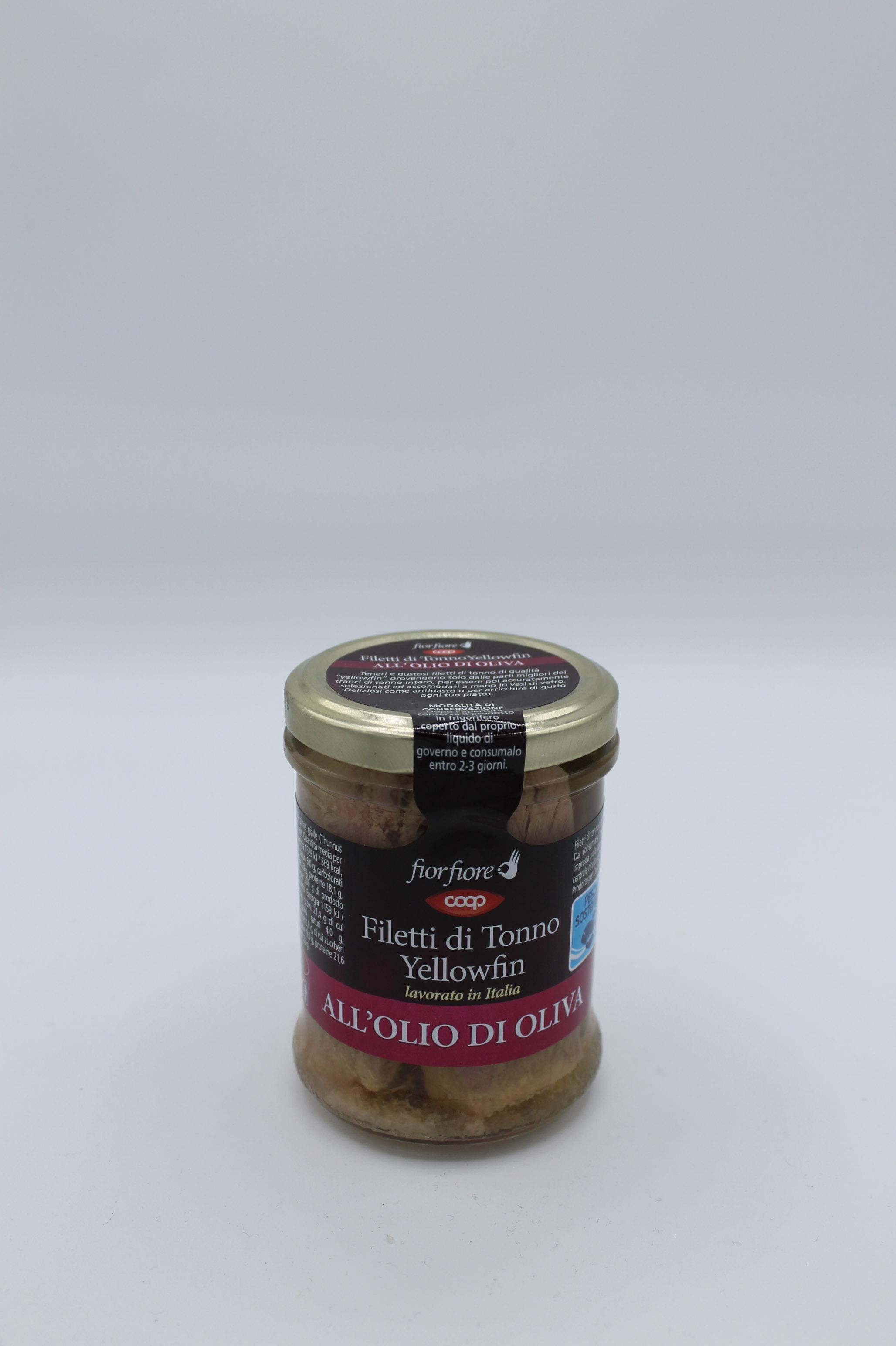 Coop filetti di tonno olio oliva 200 gr.