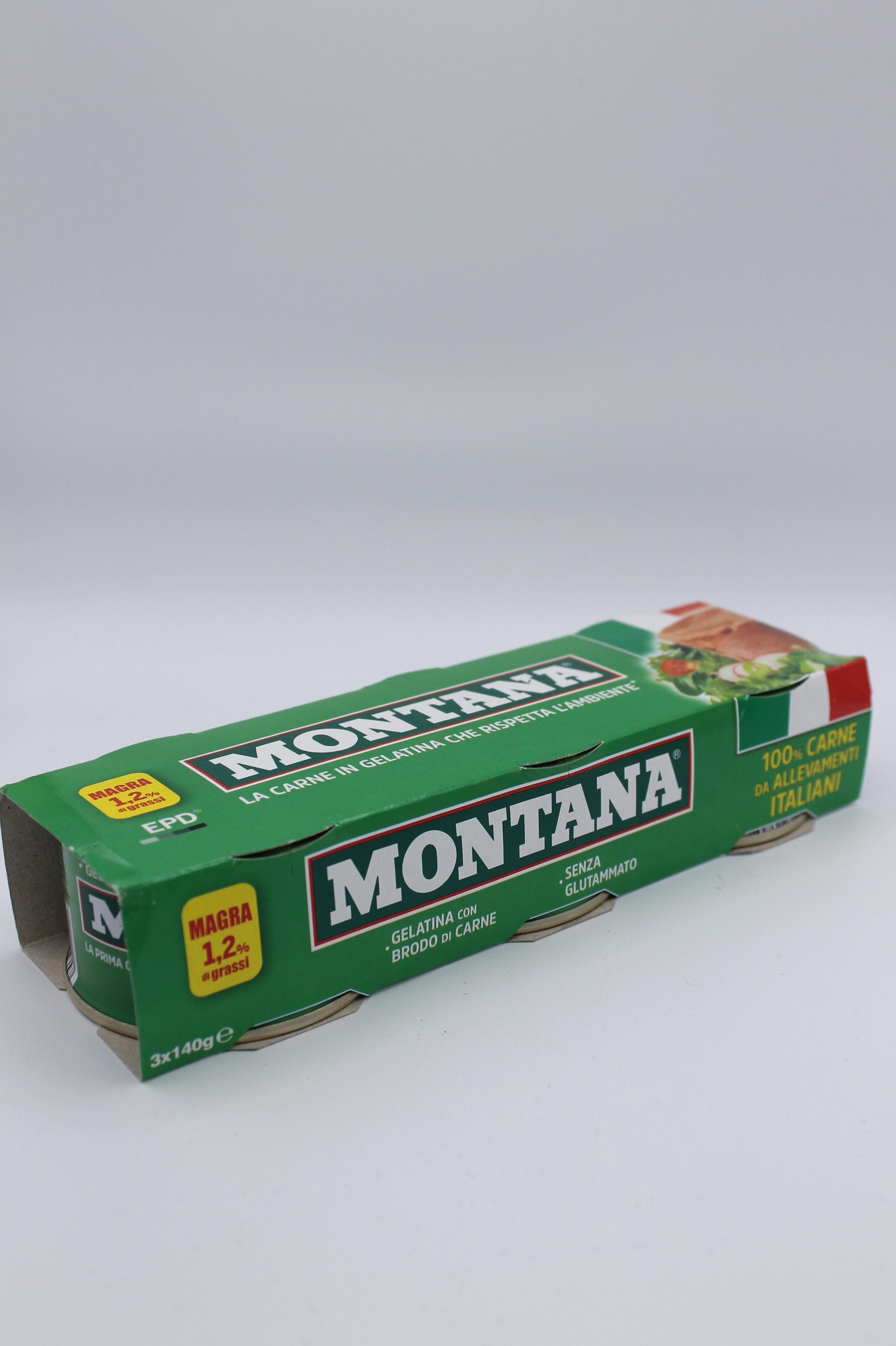 Montana carne in gelatina 3x140 gr.