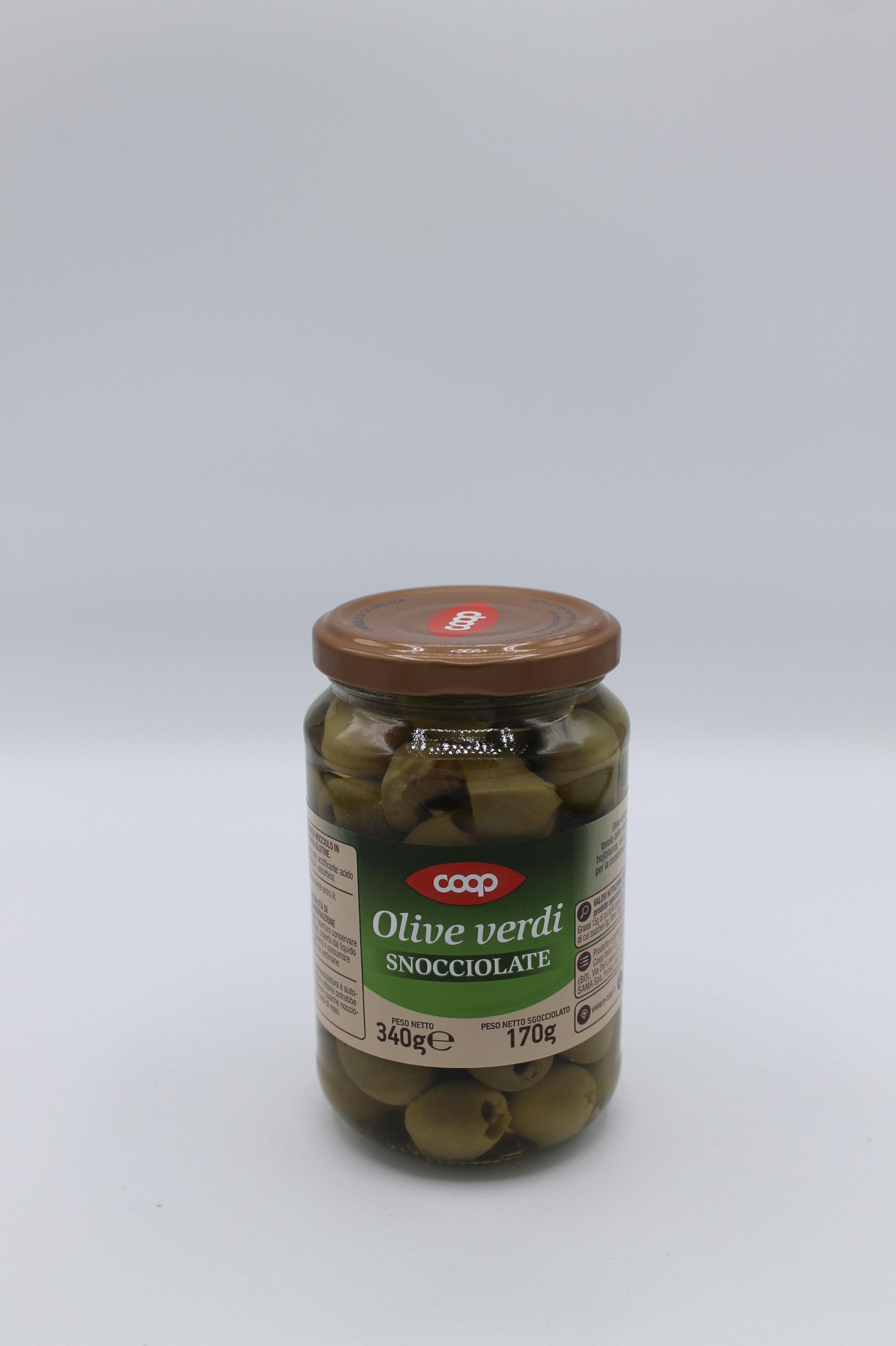 Coop olive verdi denocciolate 170 gr.