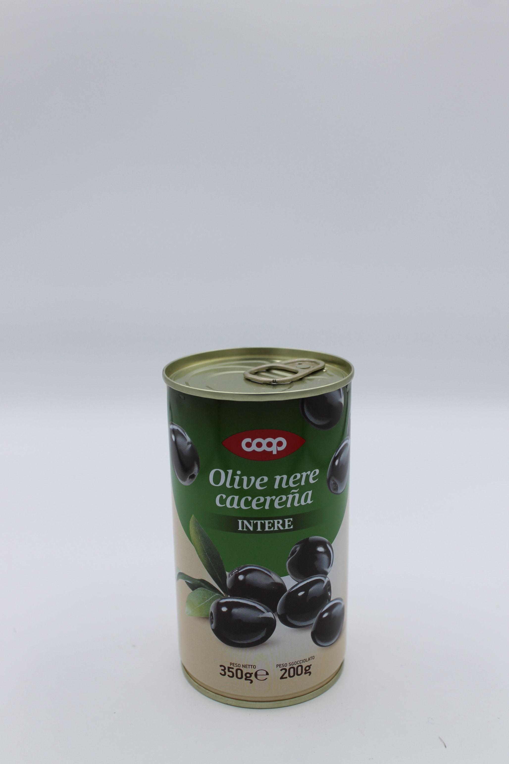 Coop olive nere intere 200 gr.