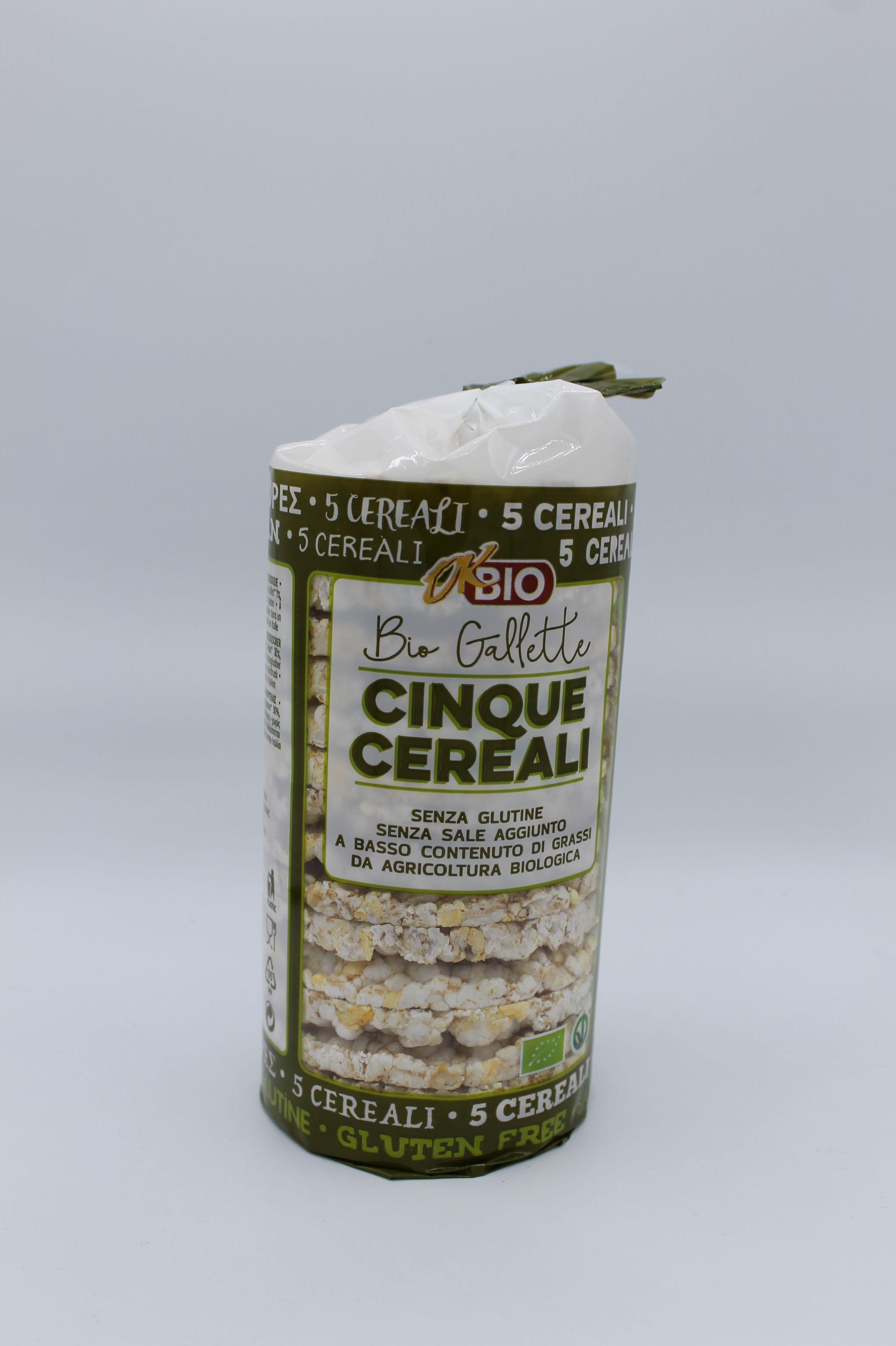 Ok Bio gallette 5 cereali 100 gr.