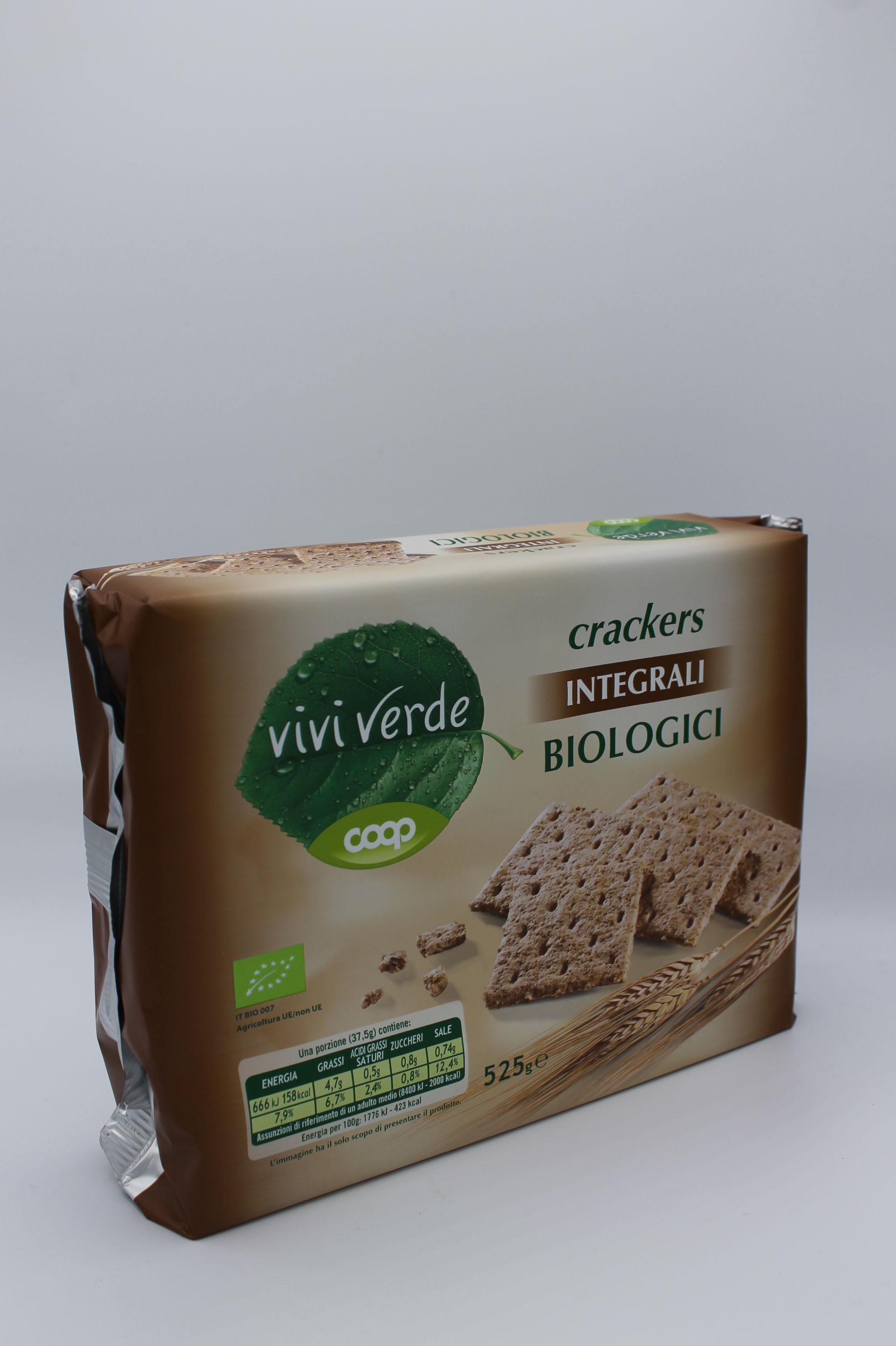 Coop viviverde crackers integrali bio 525 gr.