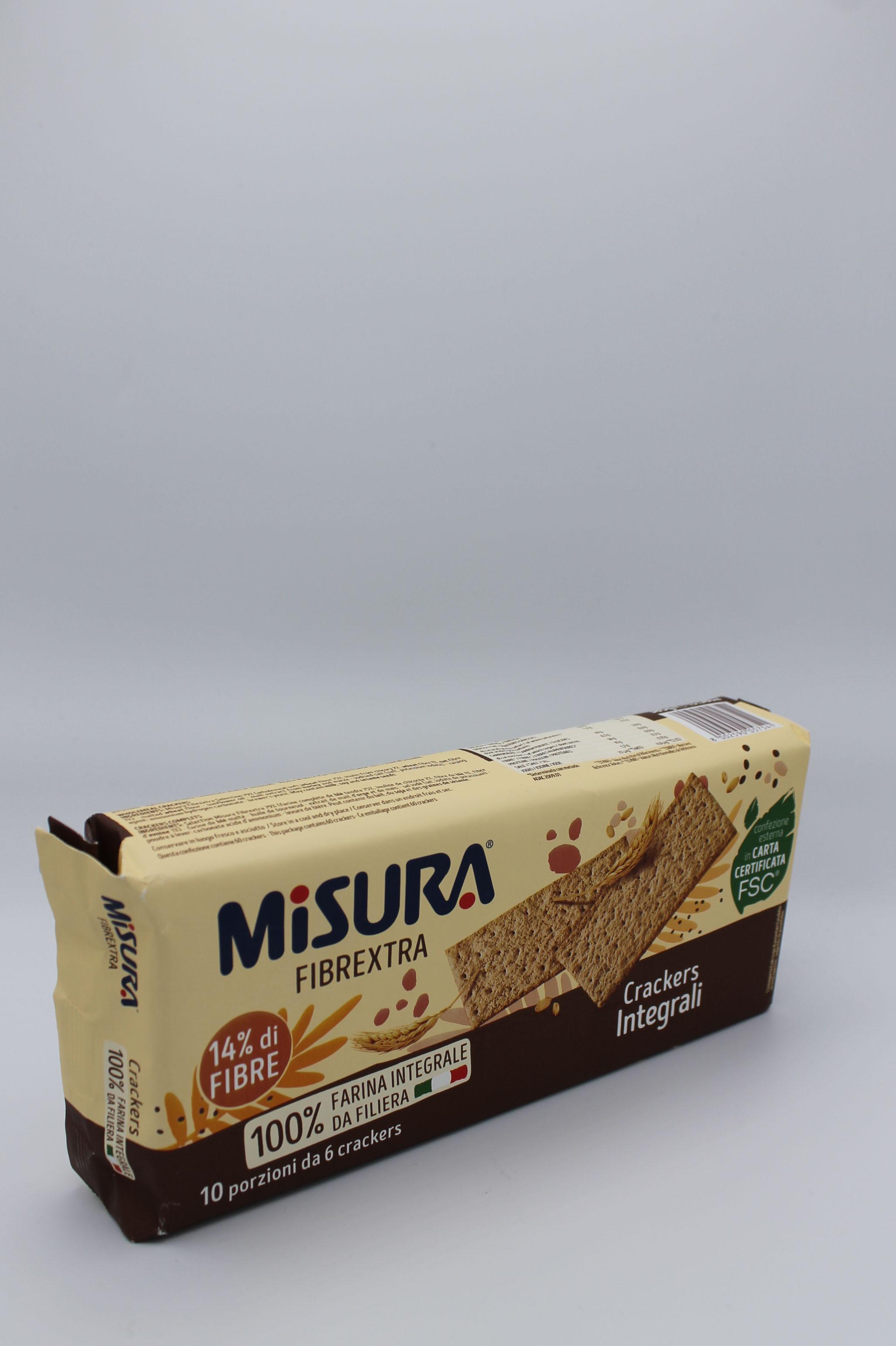 Misura crackers integrali 385 gr.