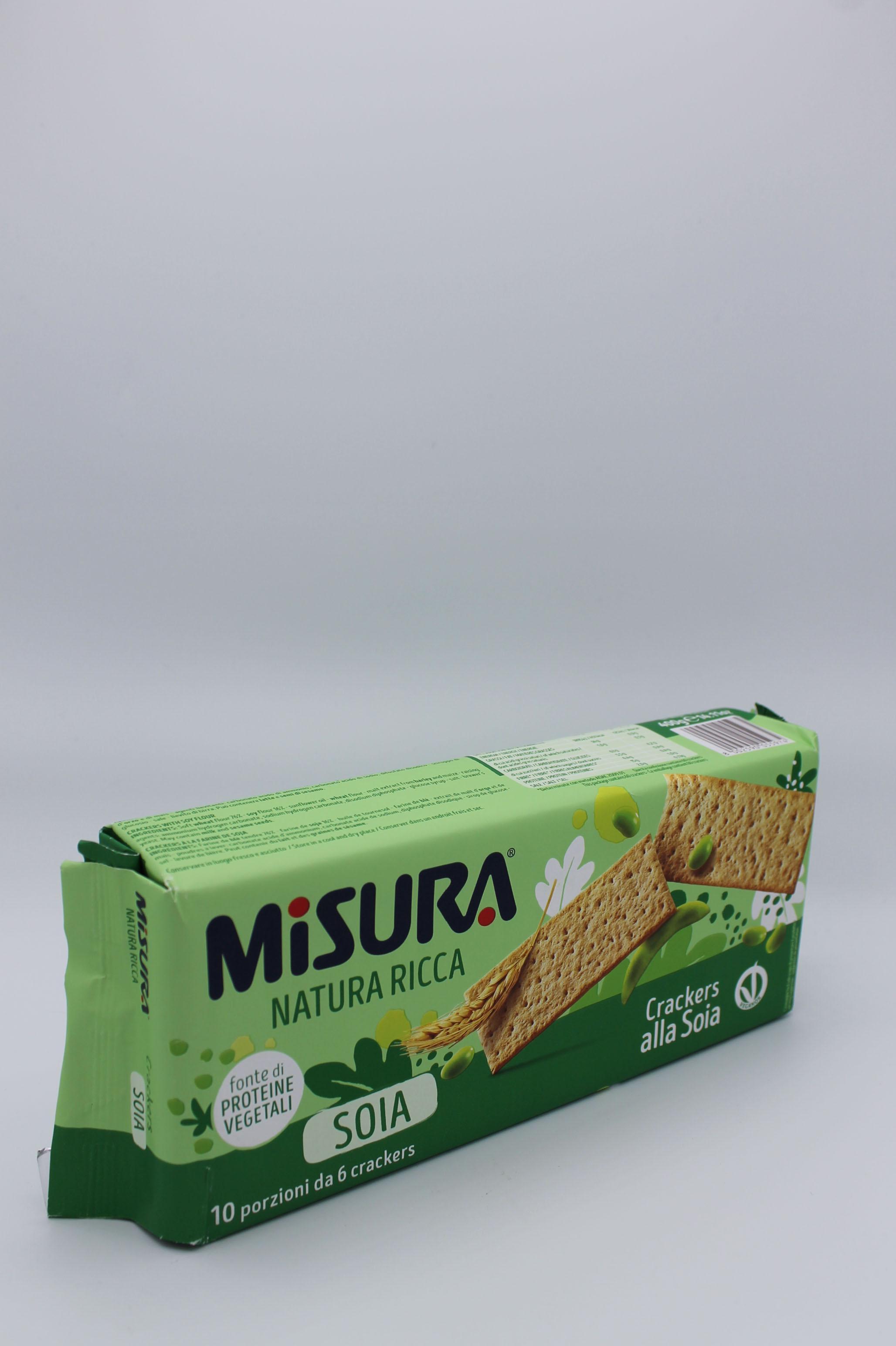 Misura crackers soia 400 gr.