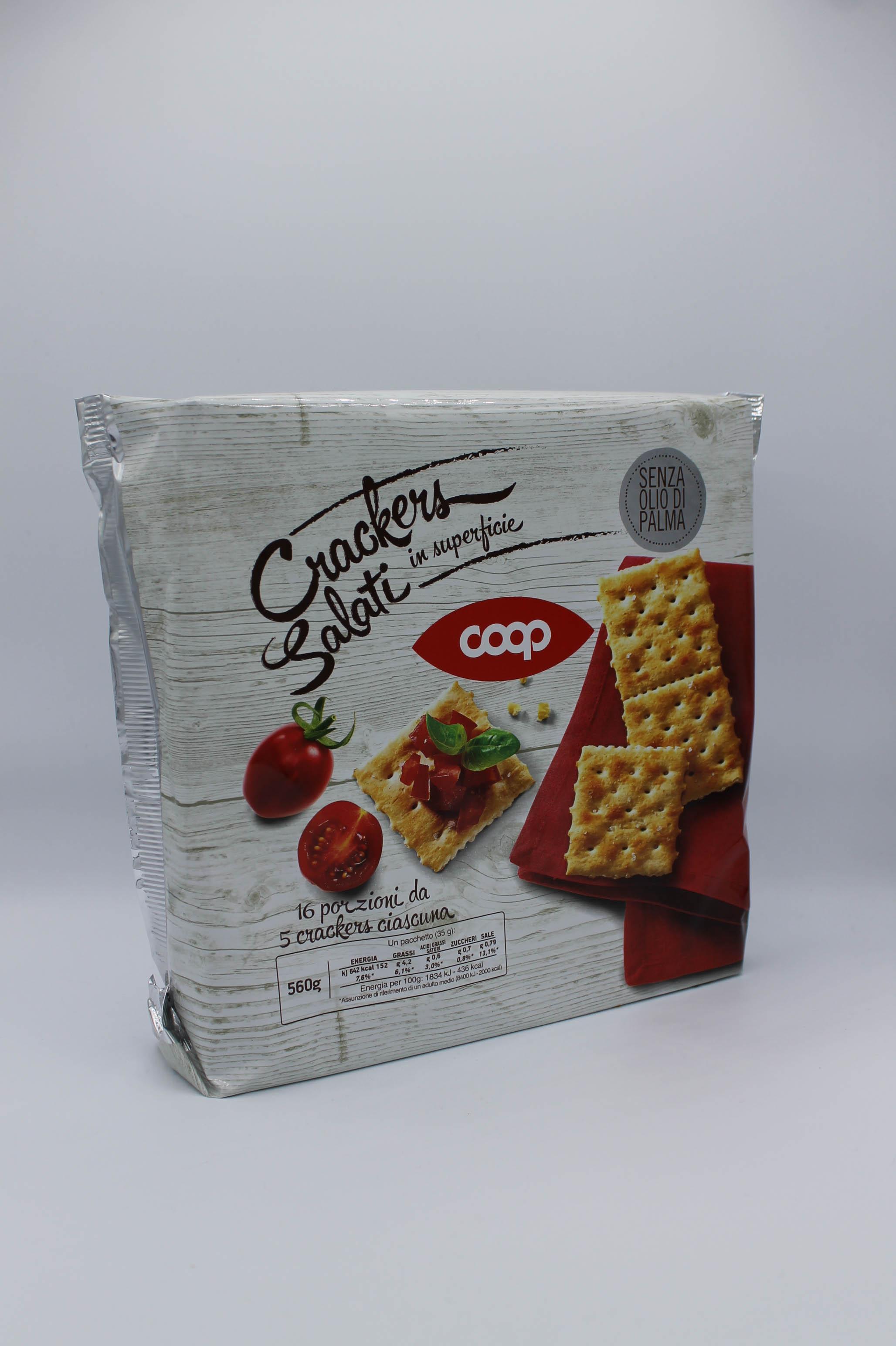Coop crackers salati in superficie 560 gr.