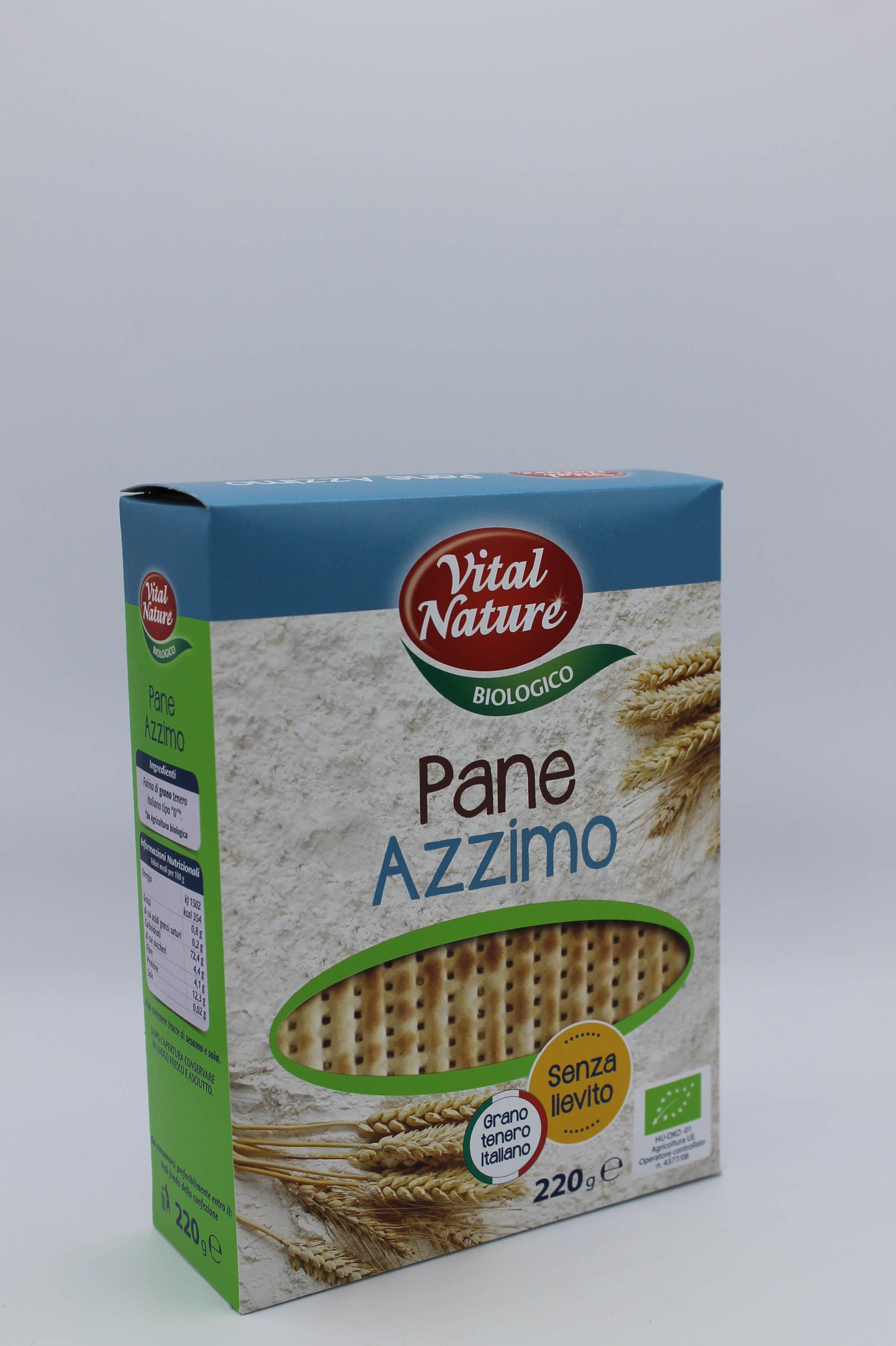 Vital Nature pane azzimo bio senza lievito 220 gr.