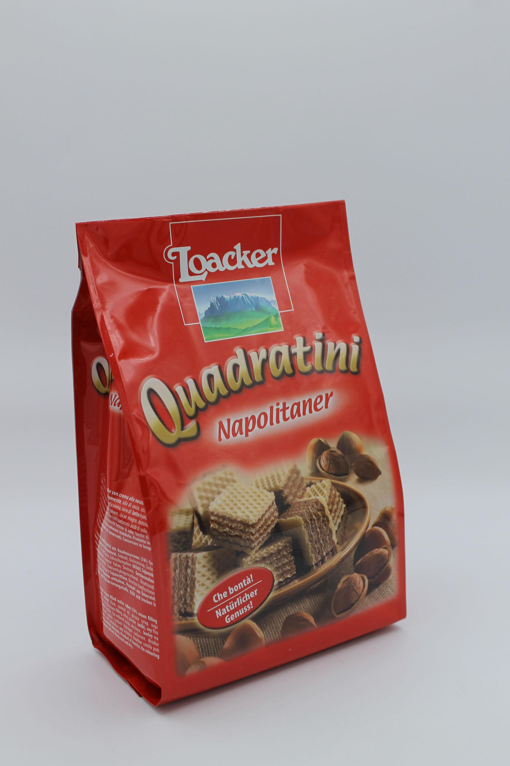 Loacker wafer quadratini 250 gr.