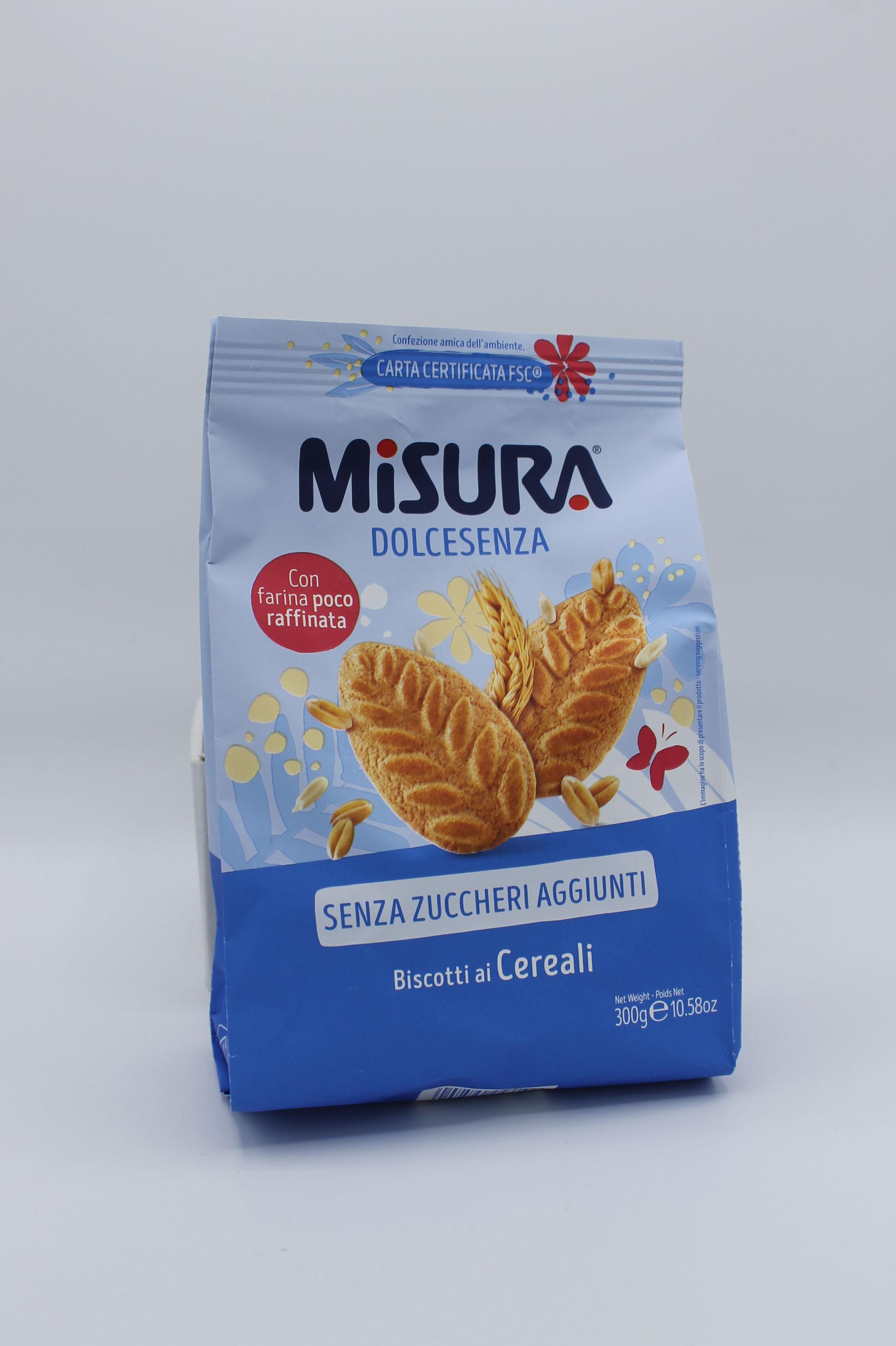 Misura biscotti ai cereali 300 gr.