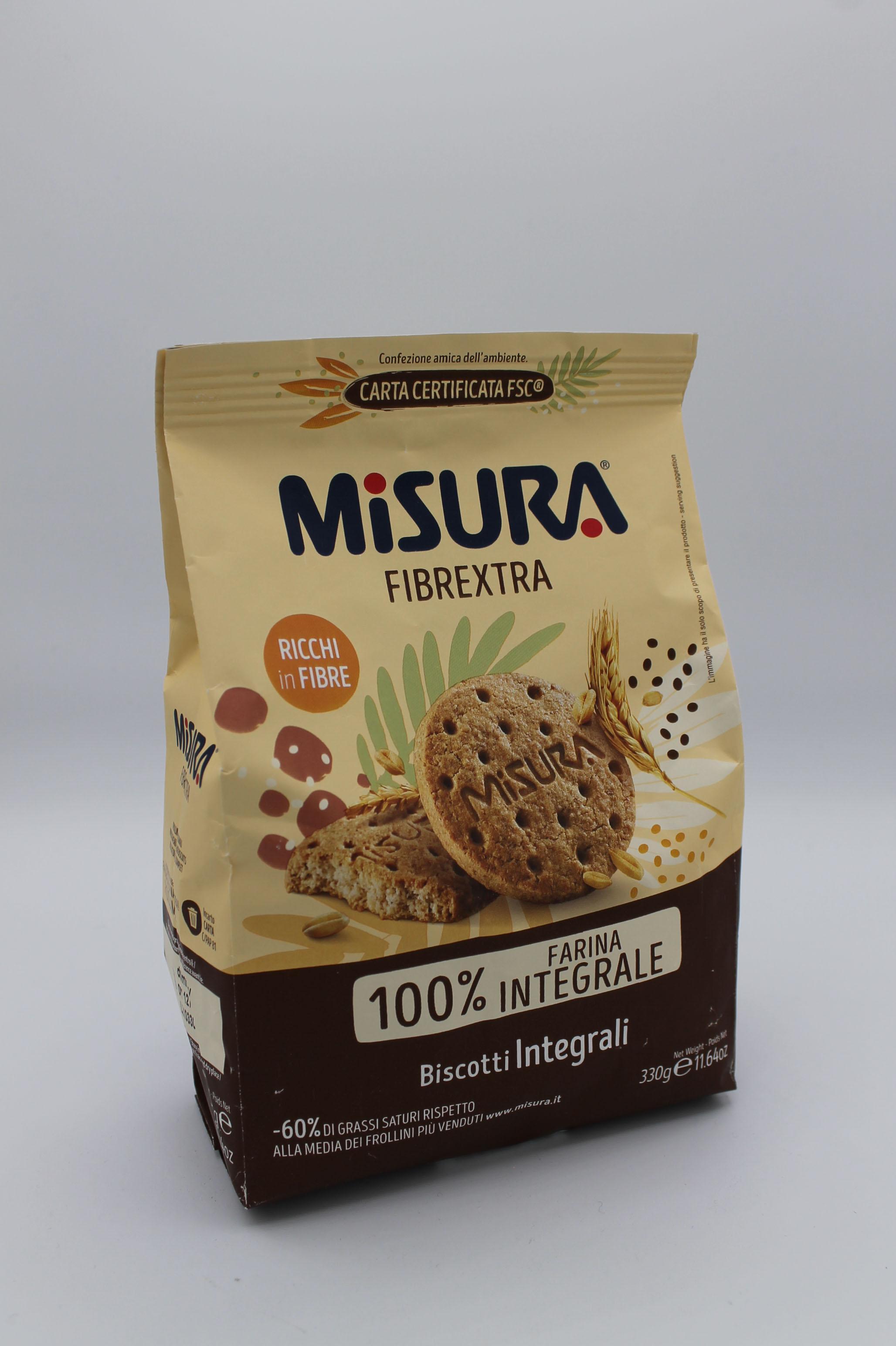 Misura biscotti con farina integrale 330 gr.