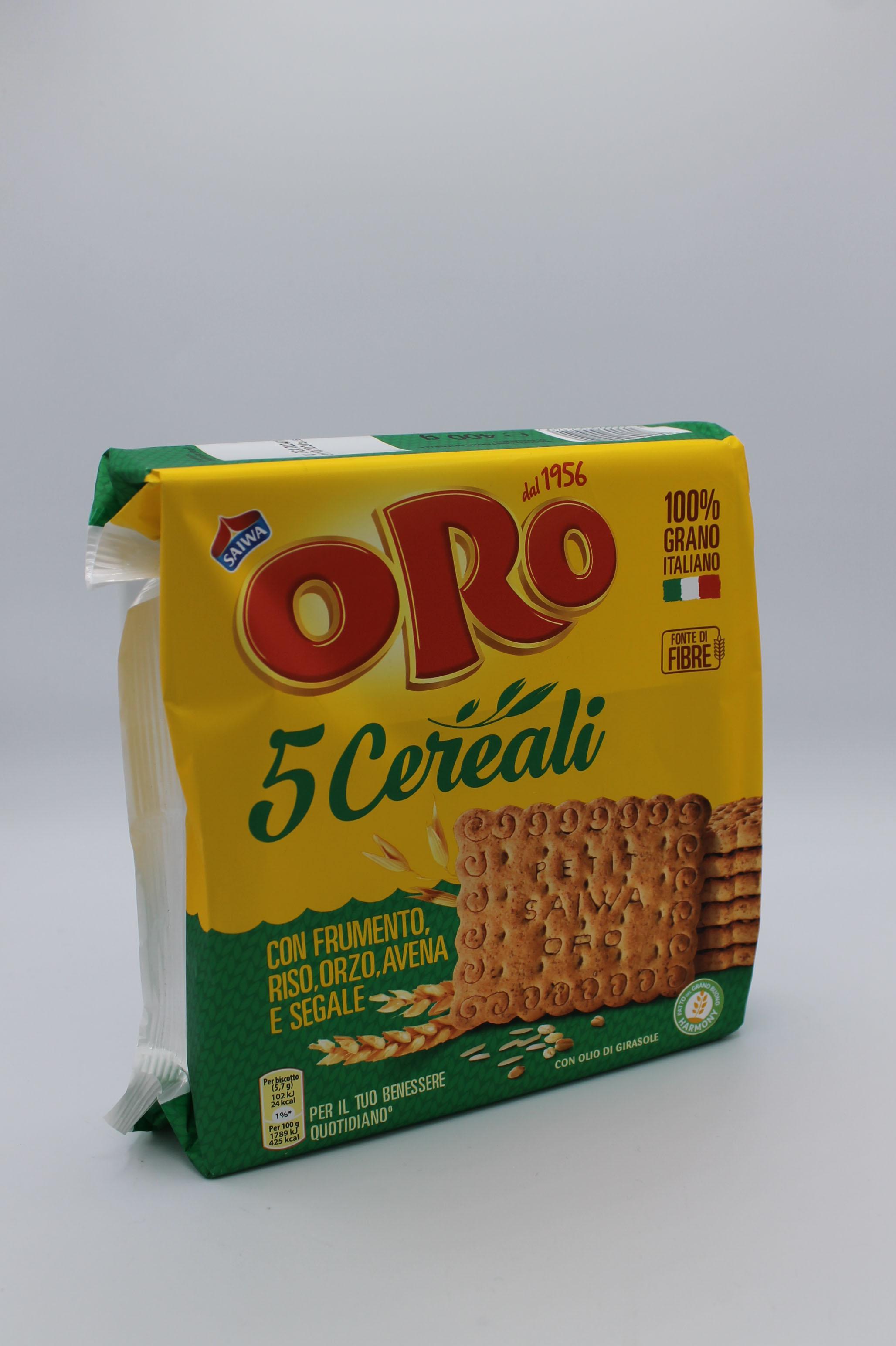 Saiwa biscotti oro 5 cereali 400 gr.