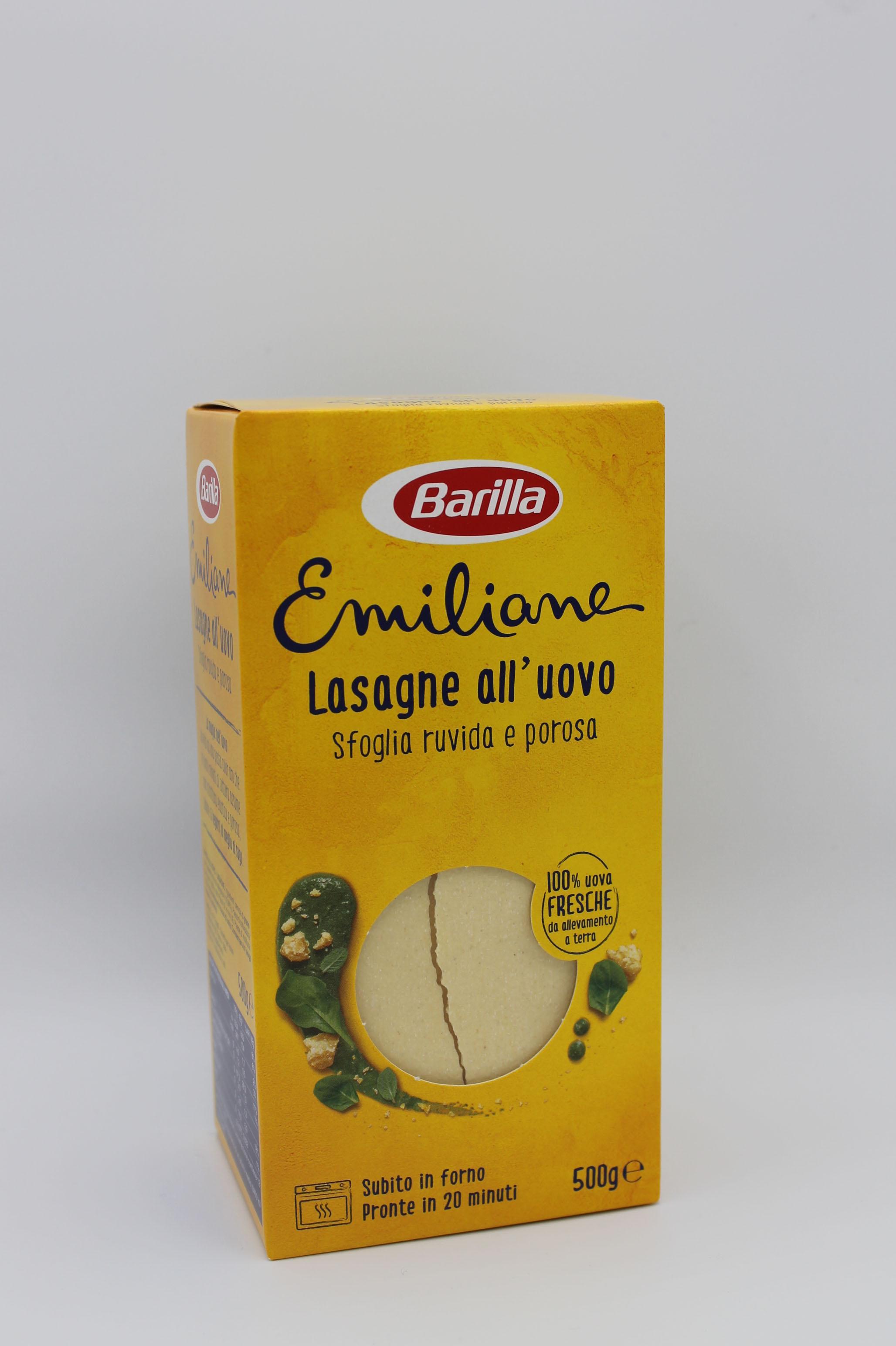 Barilla Le Emiliane lasagne all' uovo 500gr.