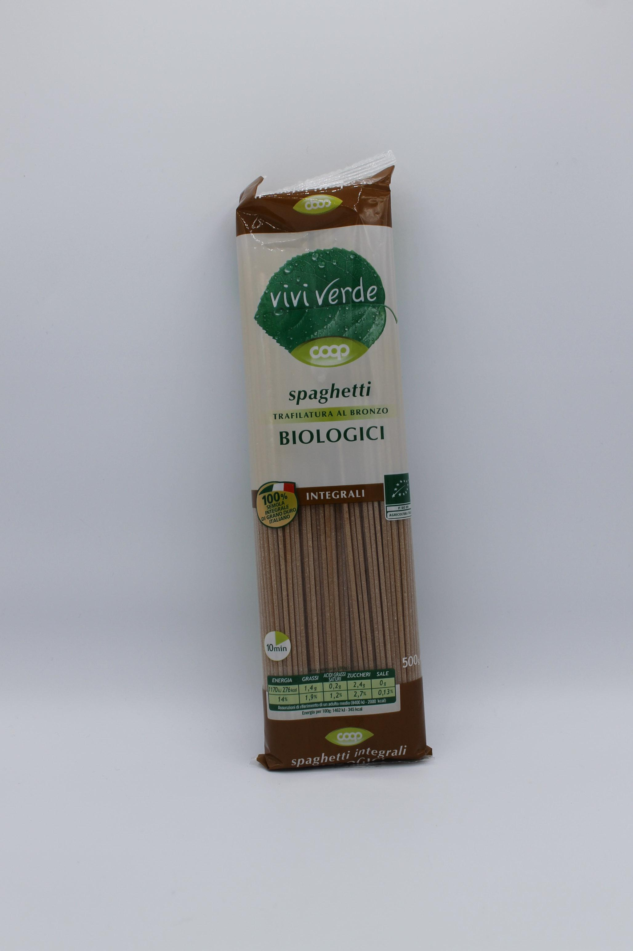 Viviverde coop spaghetti integrali bio 500gr.