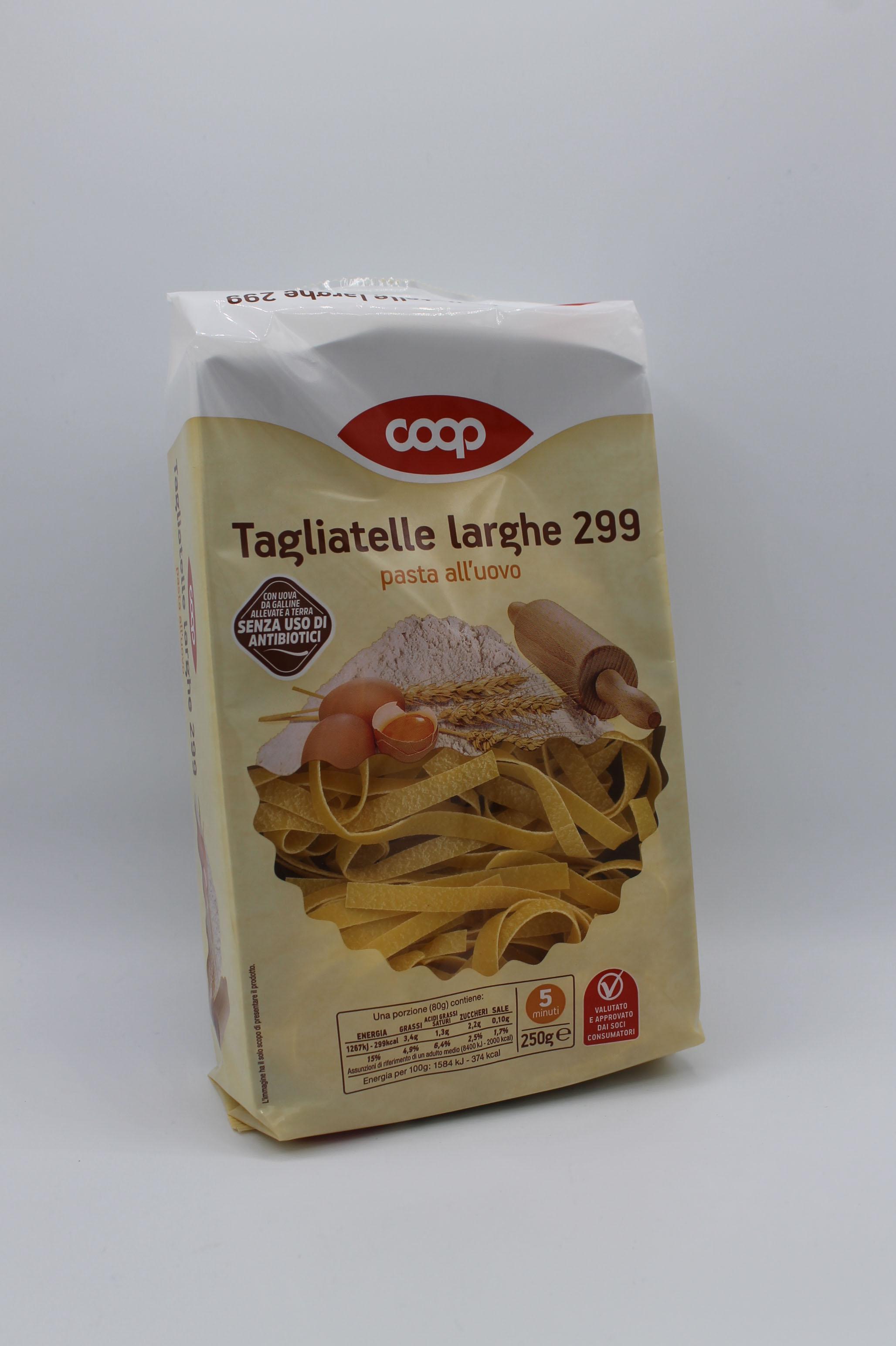 Coop tagliatelle larghe uovo 250gr.