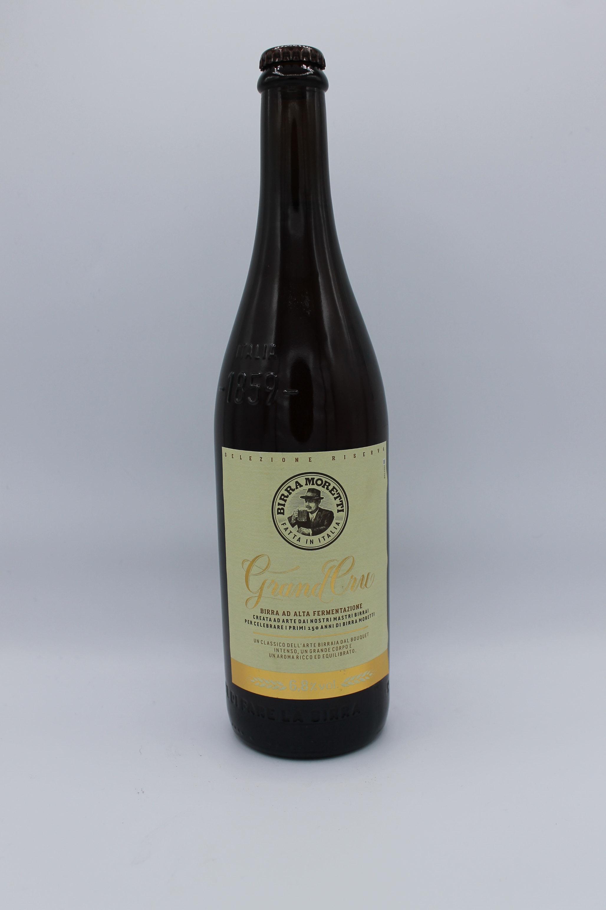 Birra moretti birra grand cru 750ml.