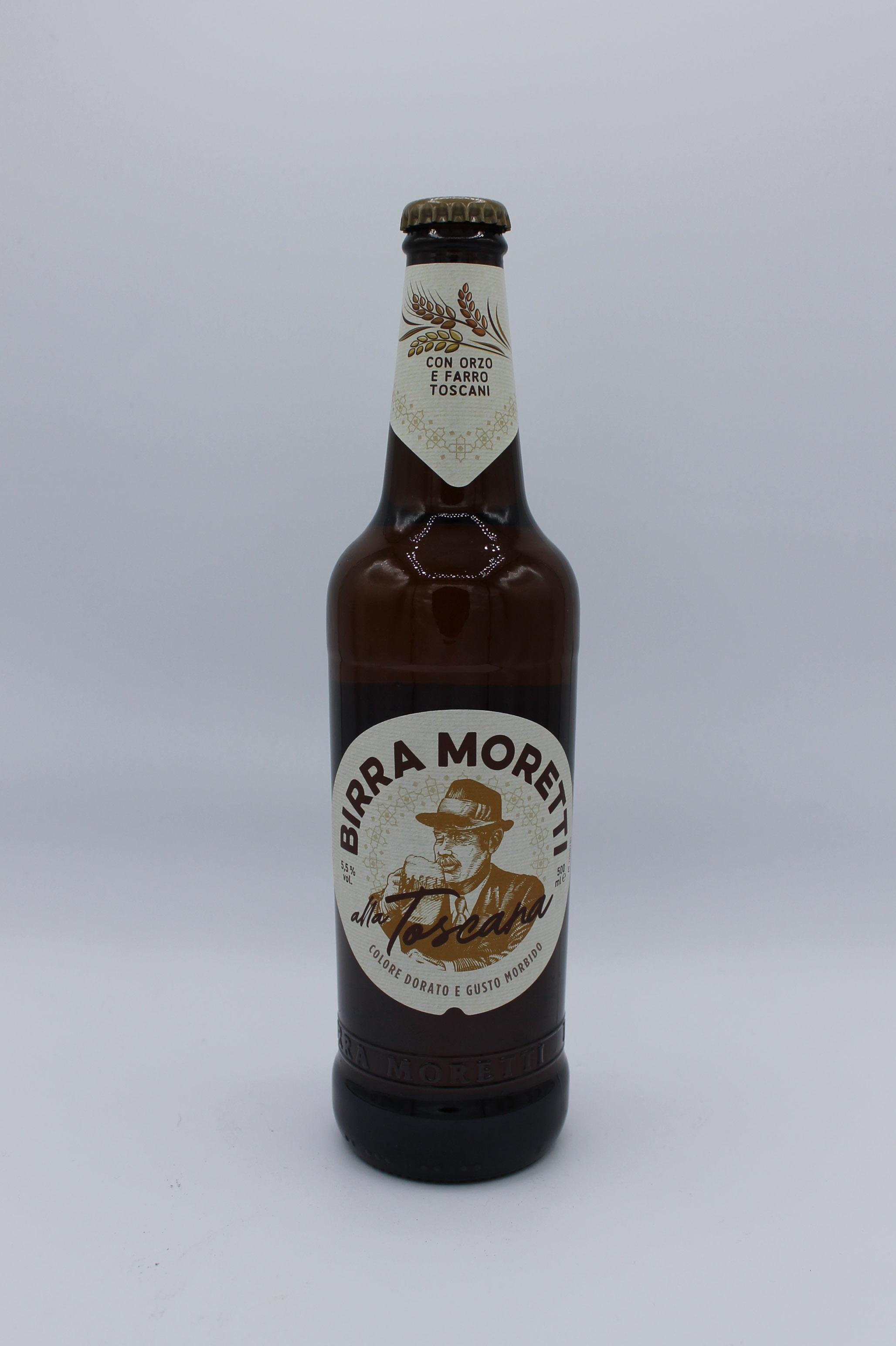 Birra moretti toscana bottiglia 500ml.