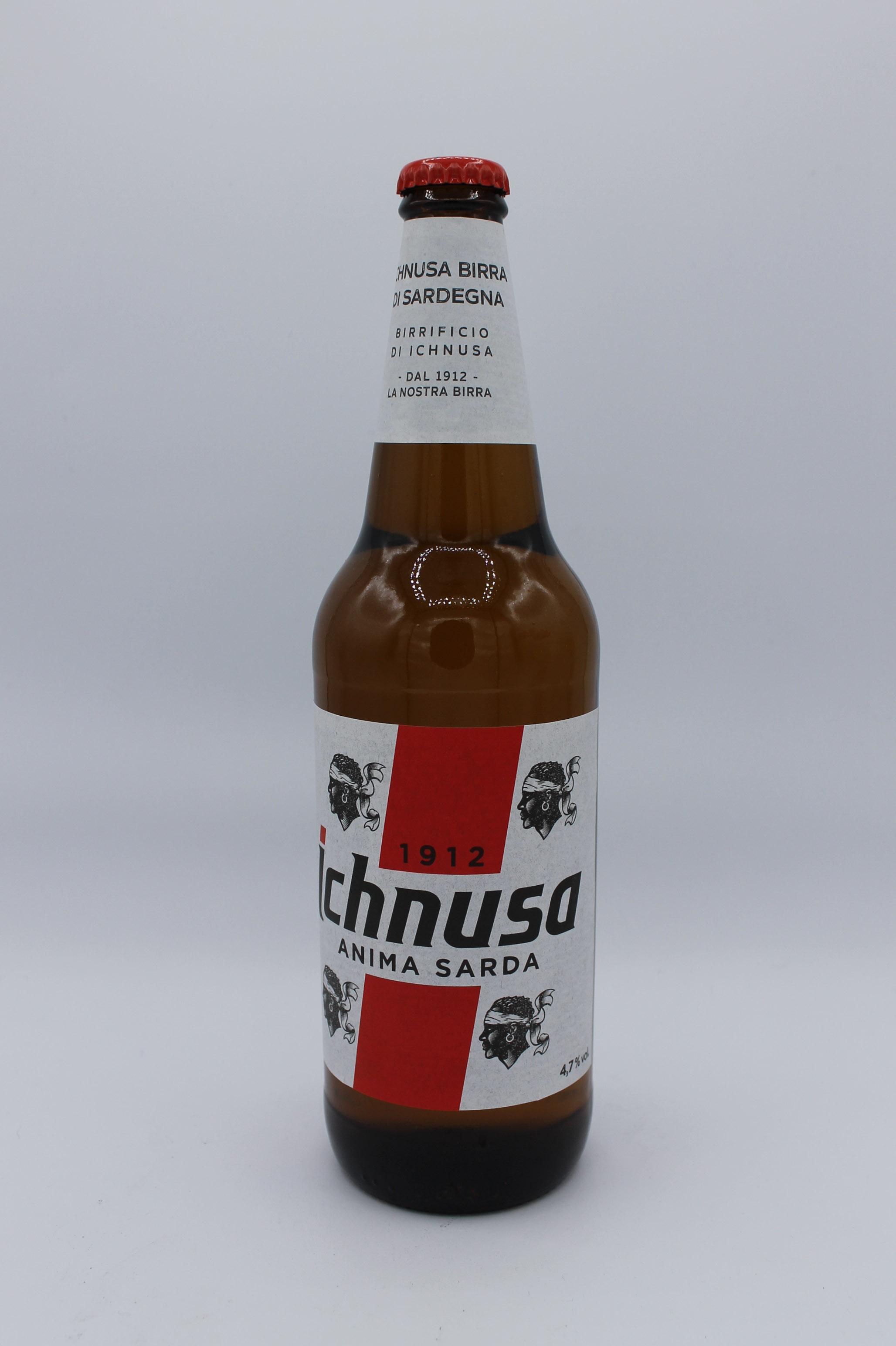 Ichnusa birra bottiglia 660ml.