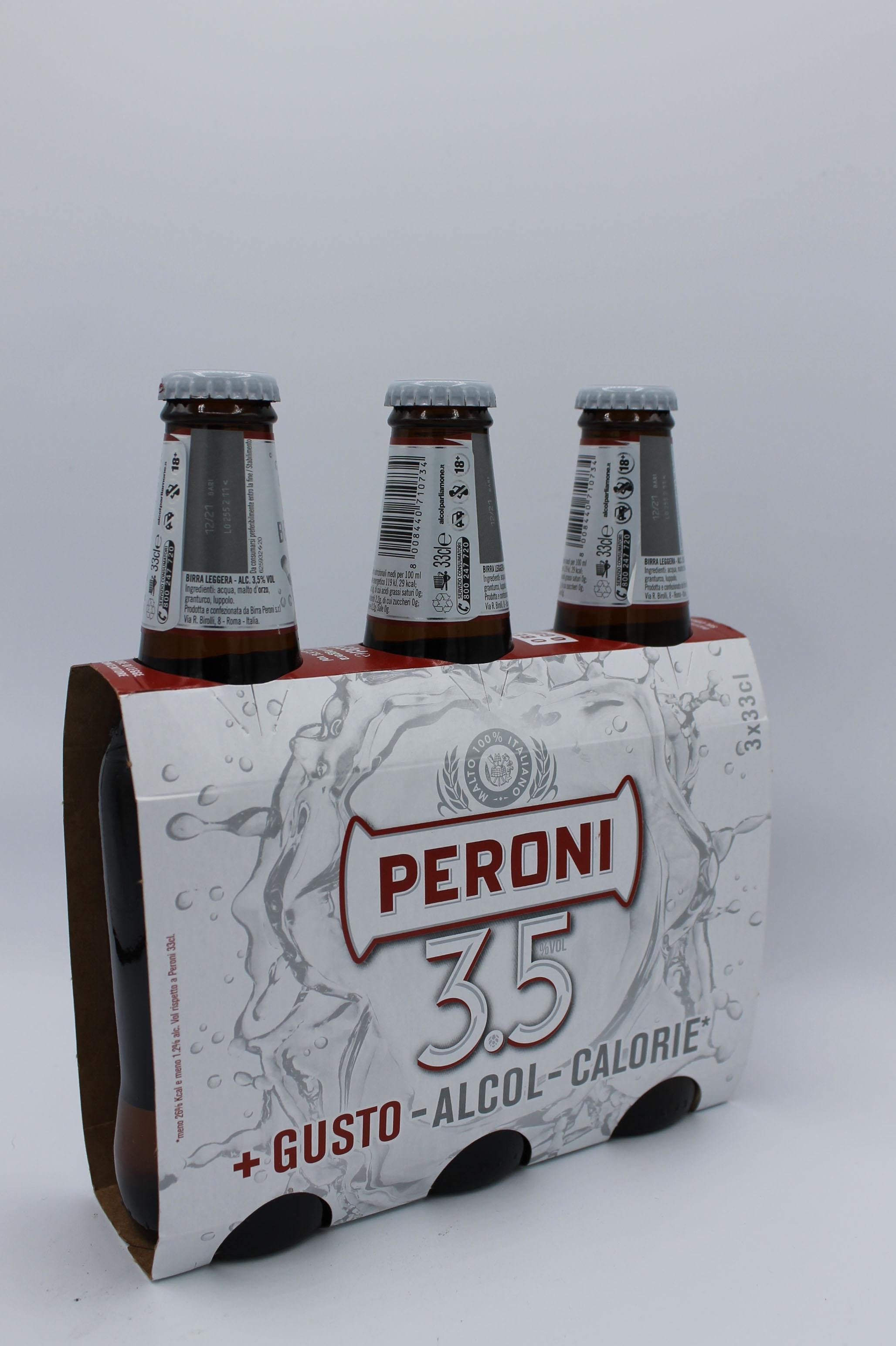 Peroni birra 3x330ml.