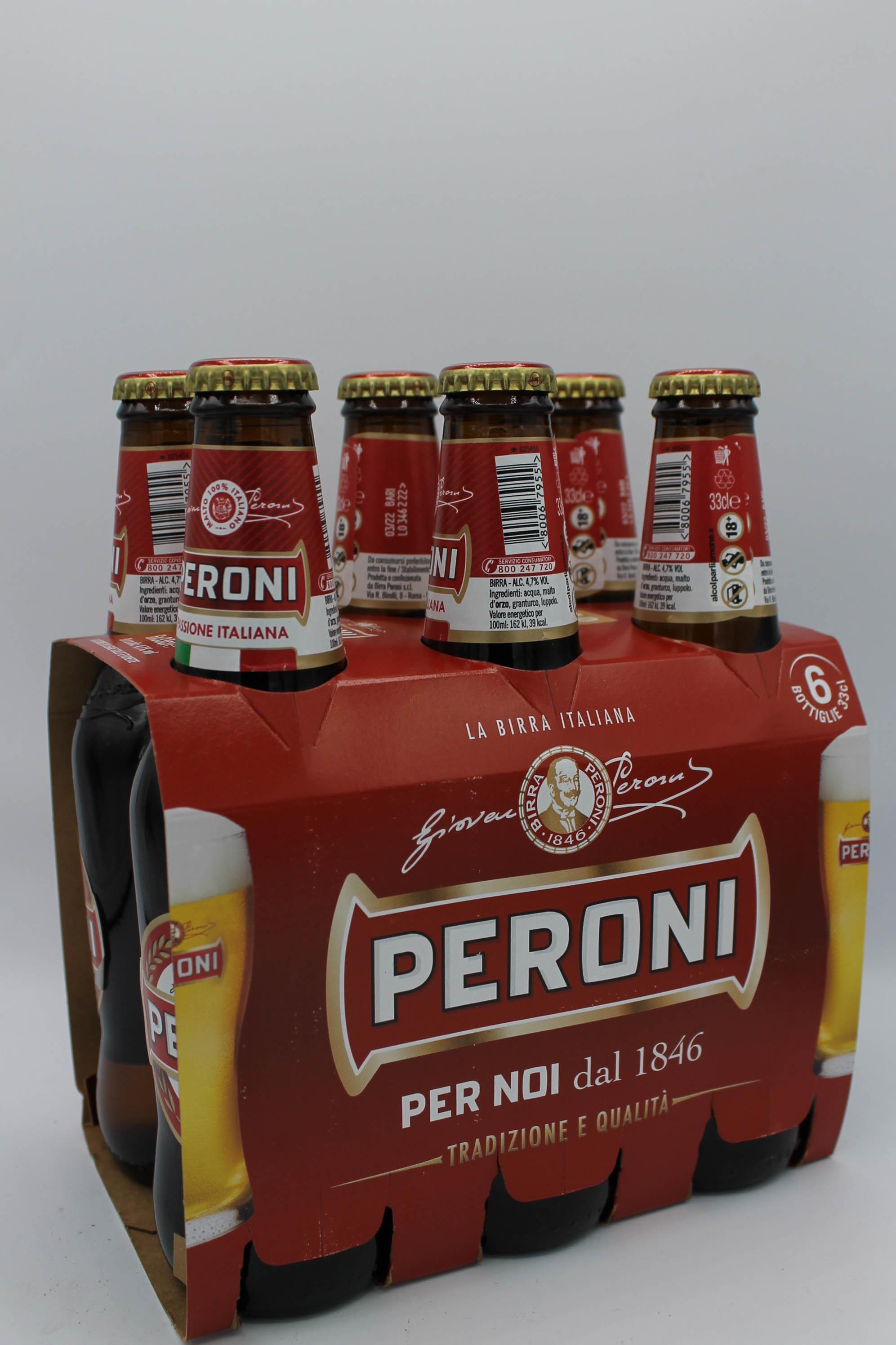 Peroni birra bottiglia 6x330ml.