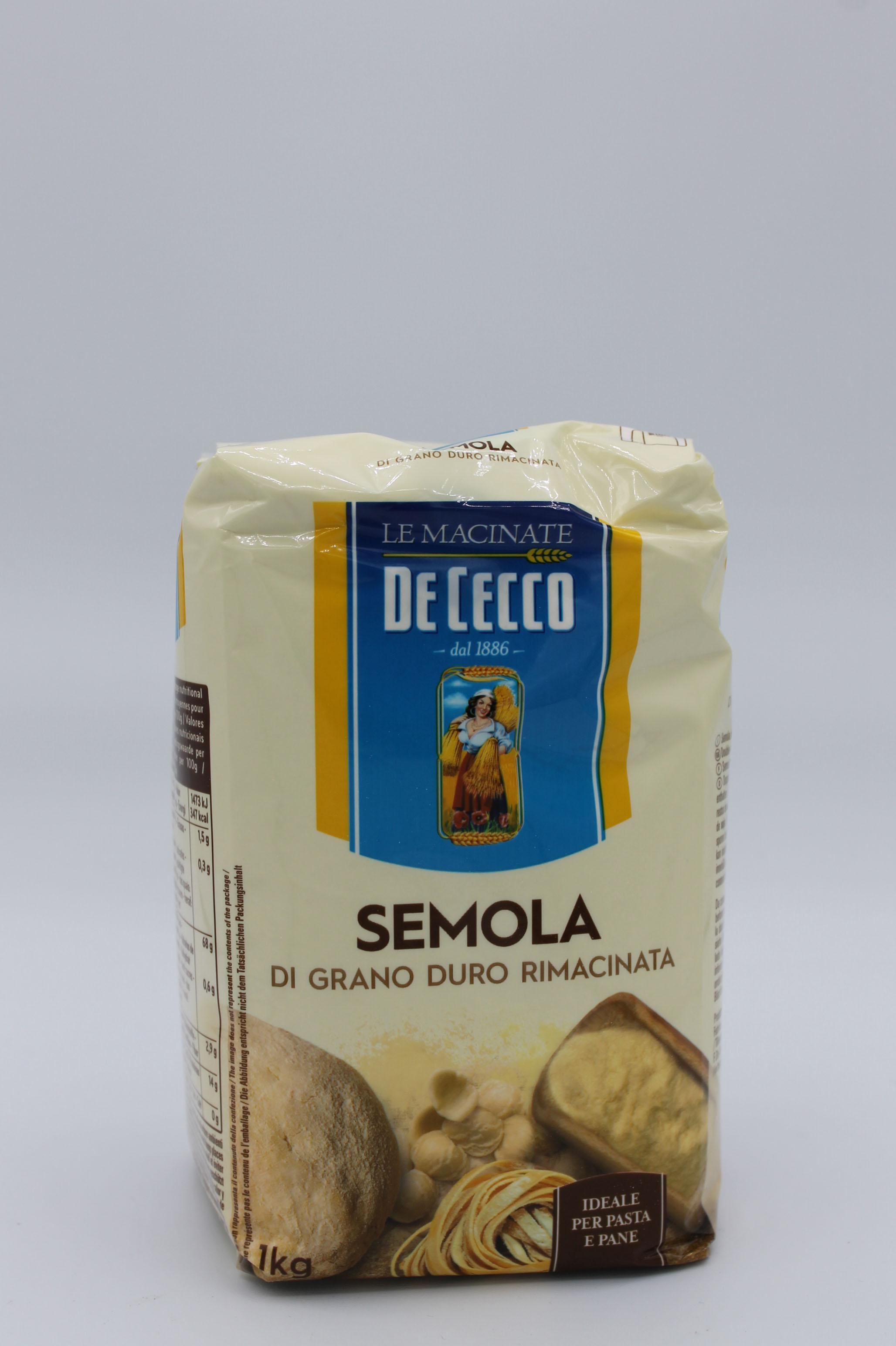 De Cecco farina semola di grano duro 1kg.