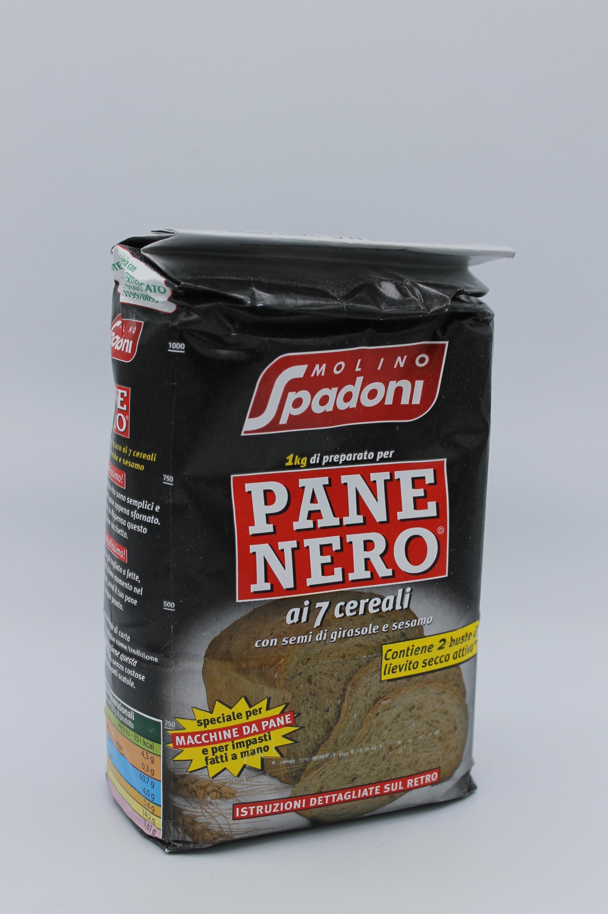 Spadoni farina per pane nero 1kg.
