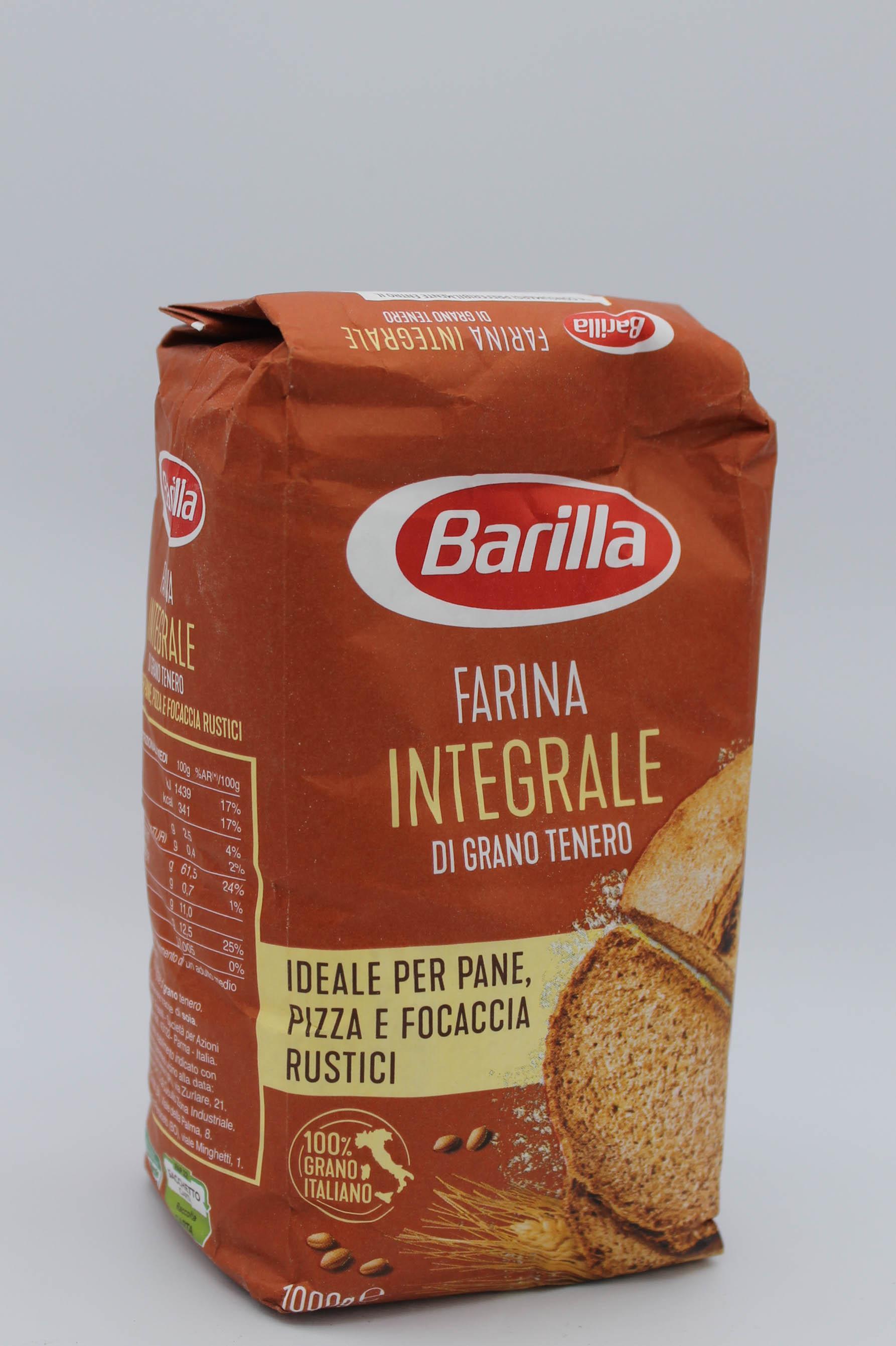 Barilla farina integrale grano tenero 1kg.