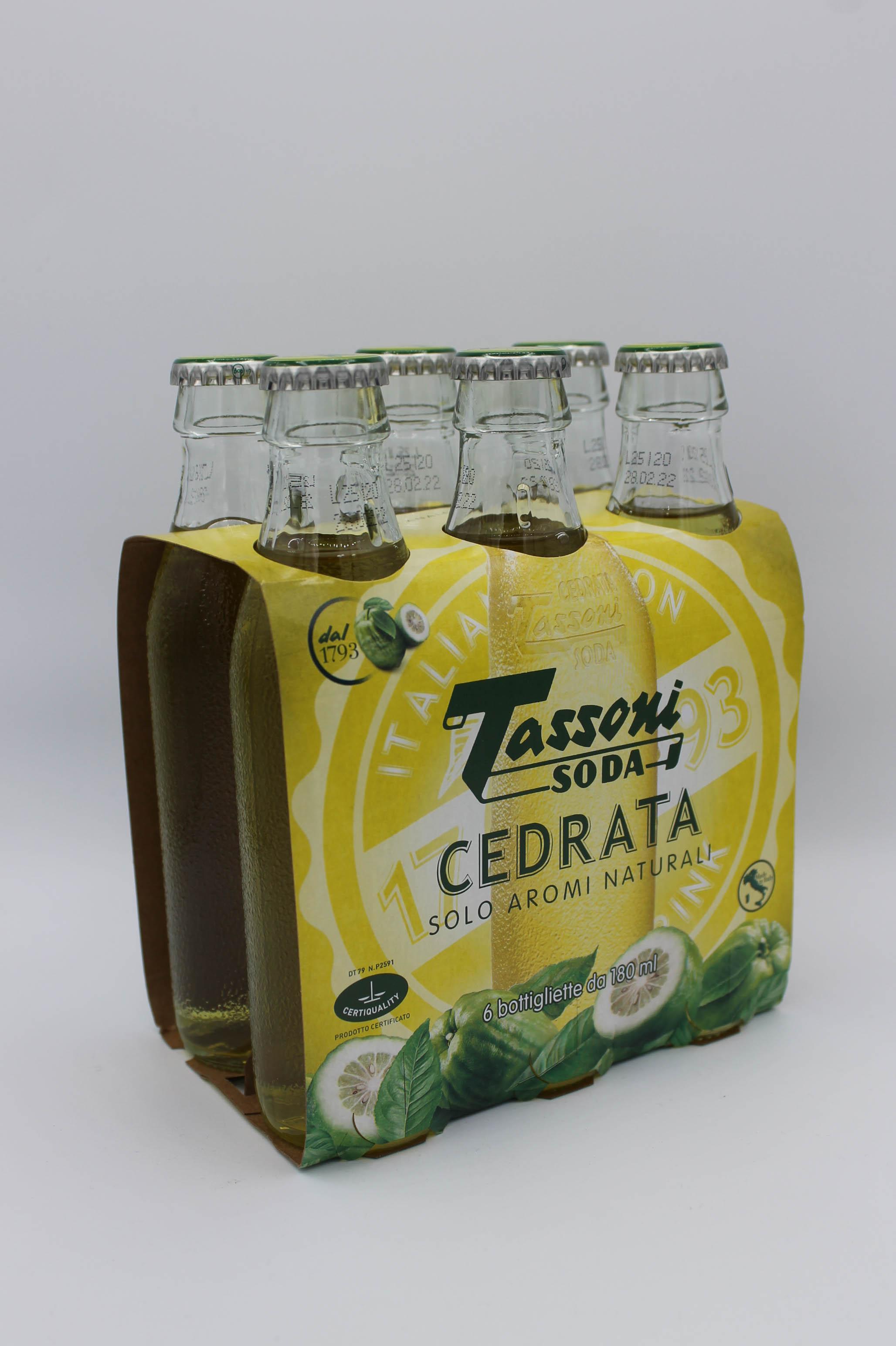 Tassoni cedrata 6x180ml.