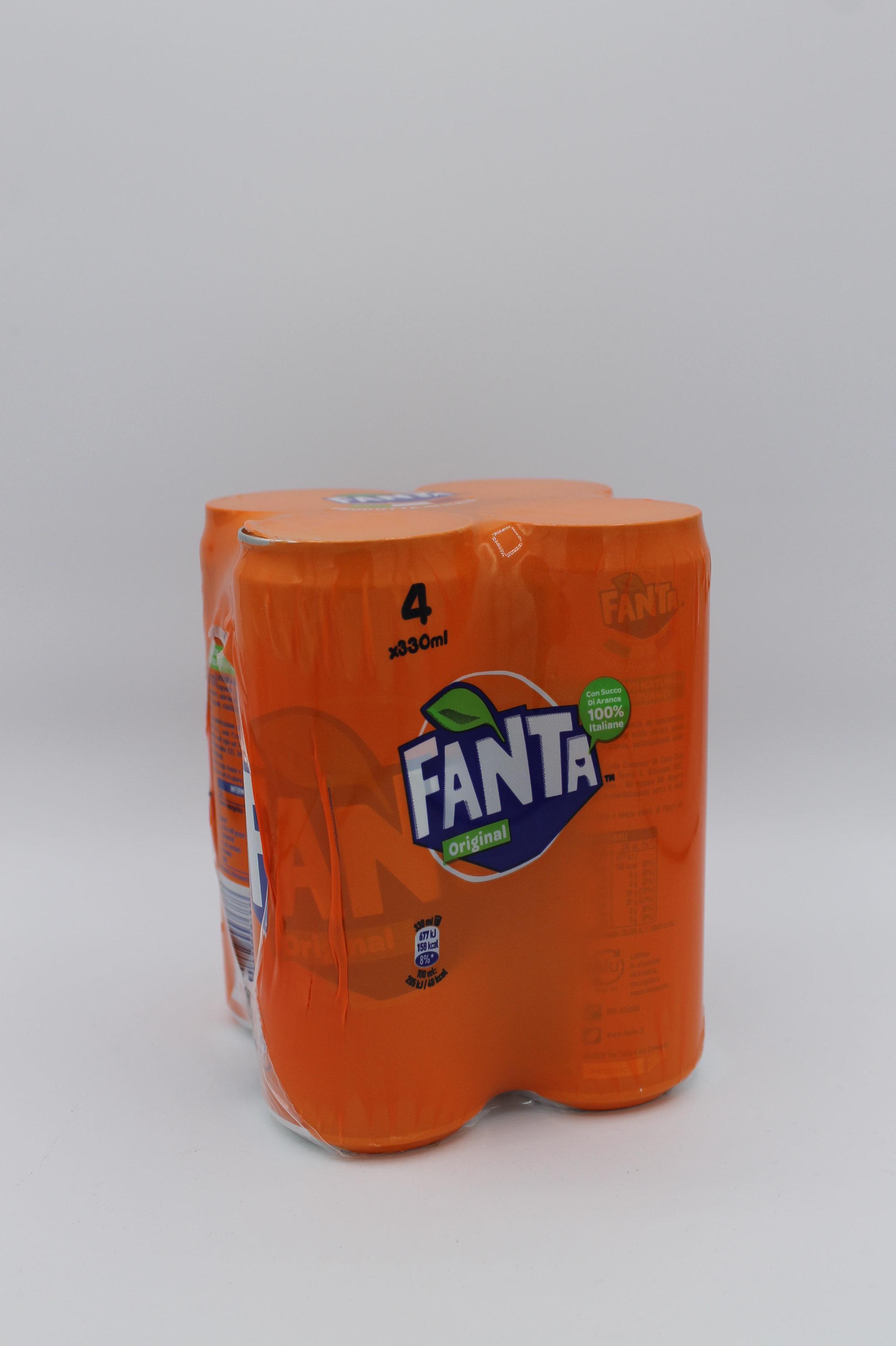 Fanta Orange lattina 4x330ml.