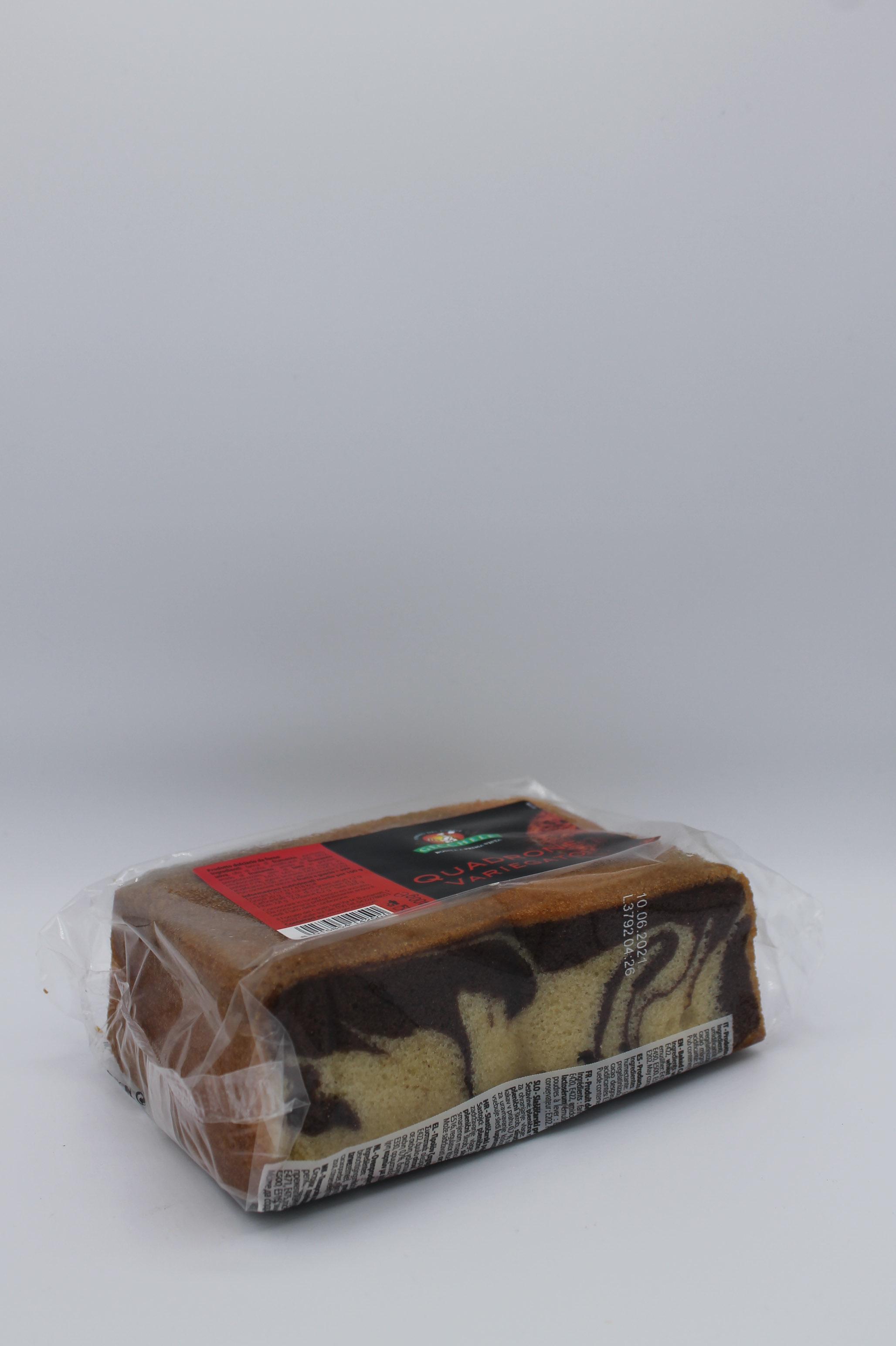 Gecchele torta quadrone variegato 400gr.