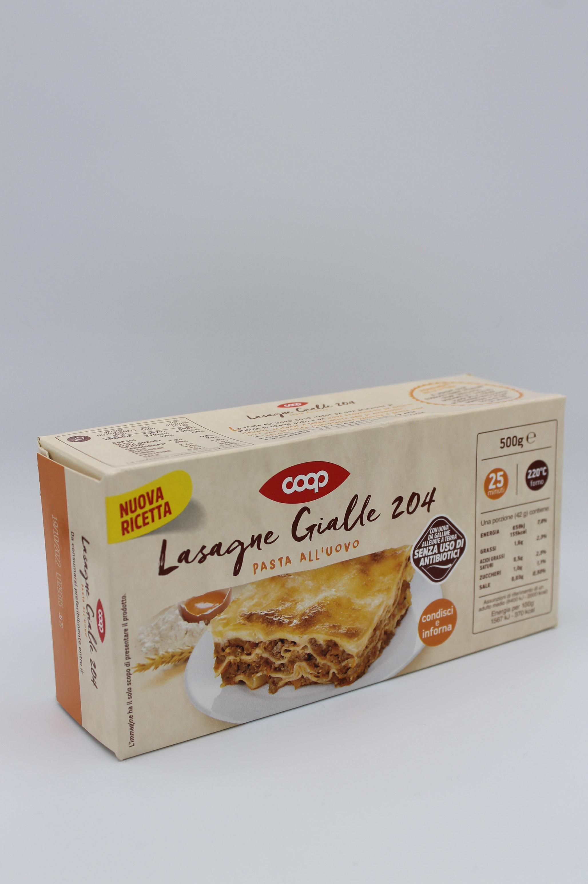Coop lasagne gialle all' uovo 500gr.
