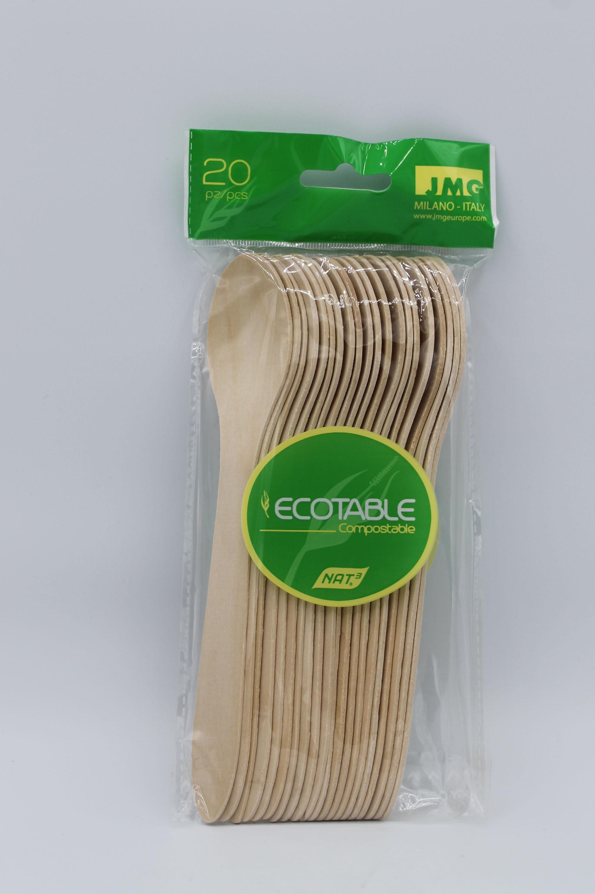 Ecotable cucchiai in legno 20pz.