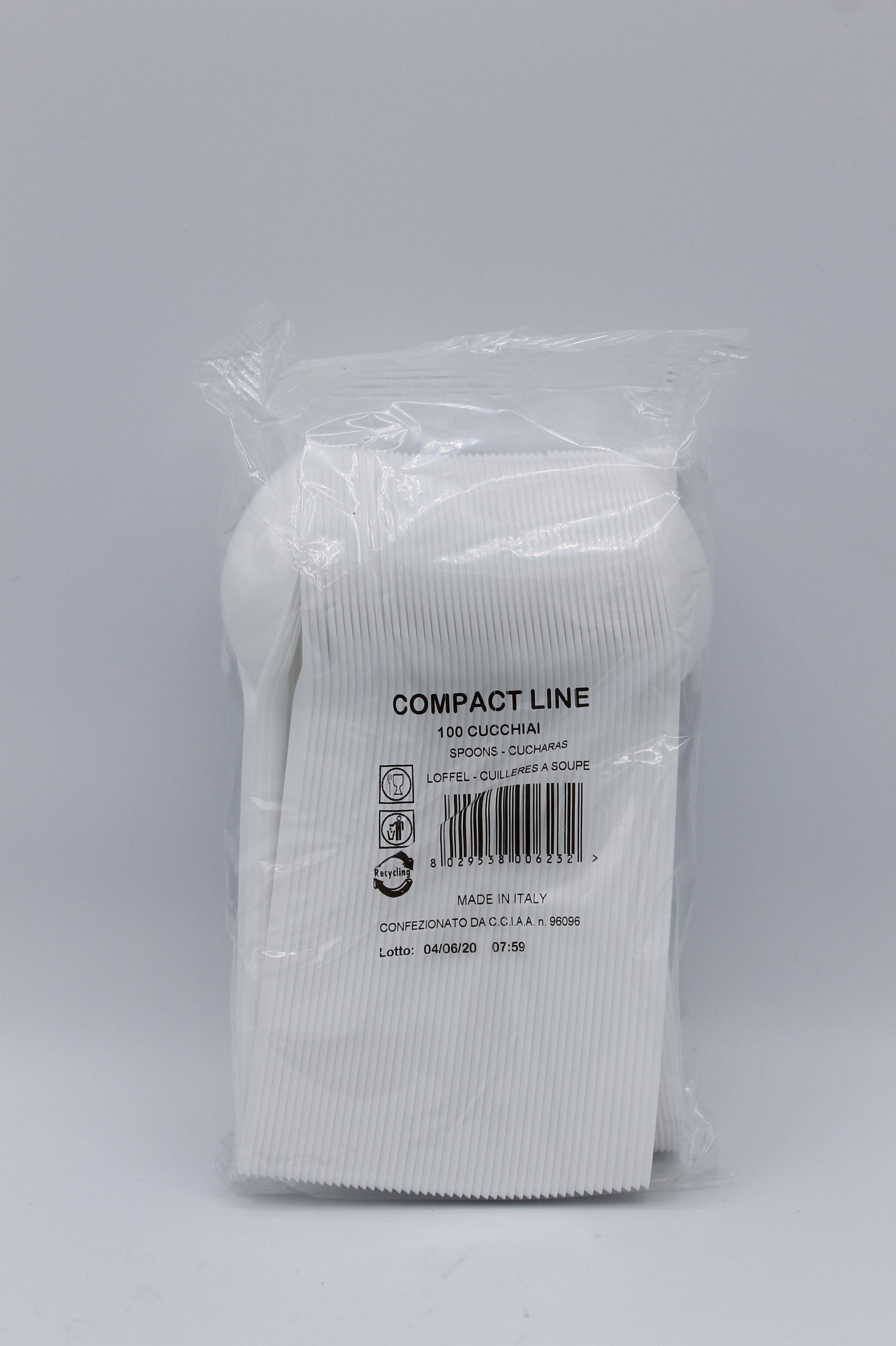 Compact Line cucchiai di plastica 100pz.